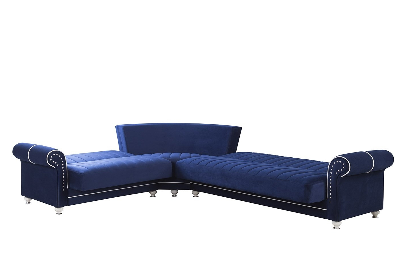 Royal Home Riva Dark Blue Convertible Sectionalcasamode With Regard To Most Popular Niagara Sectional Sofas (View 13 of 15)