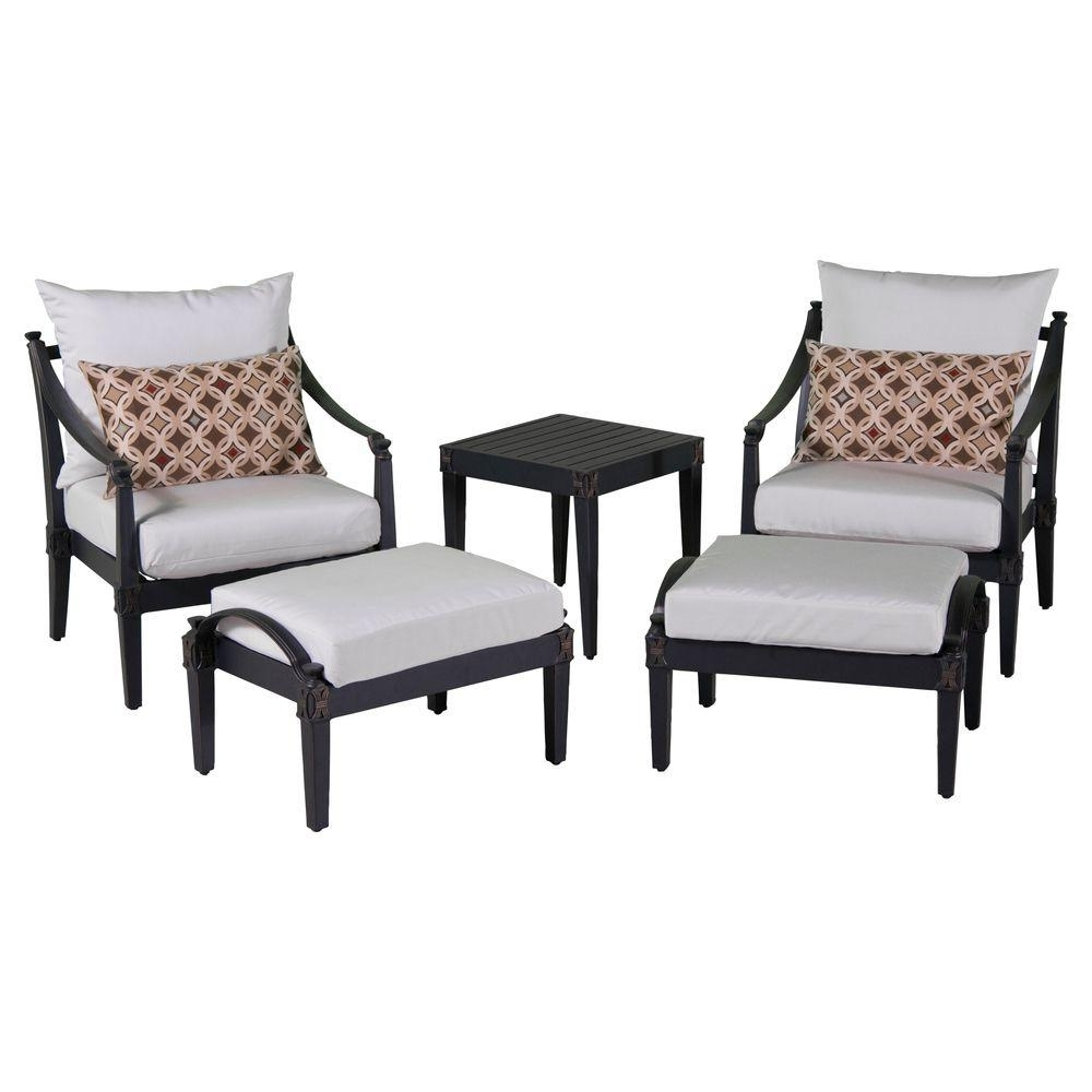 Rst Brands Astoria 5 Piece Patio Club Chair And Ottoman Set With Throughout 2017 Chairs With Ottoman (View 7 of 15)