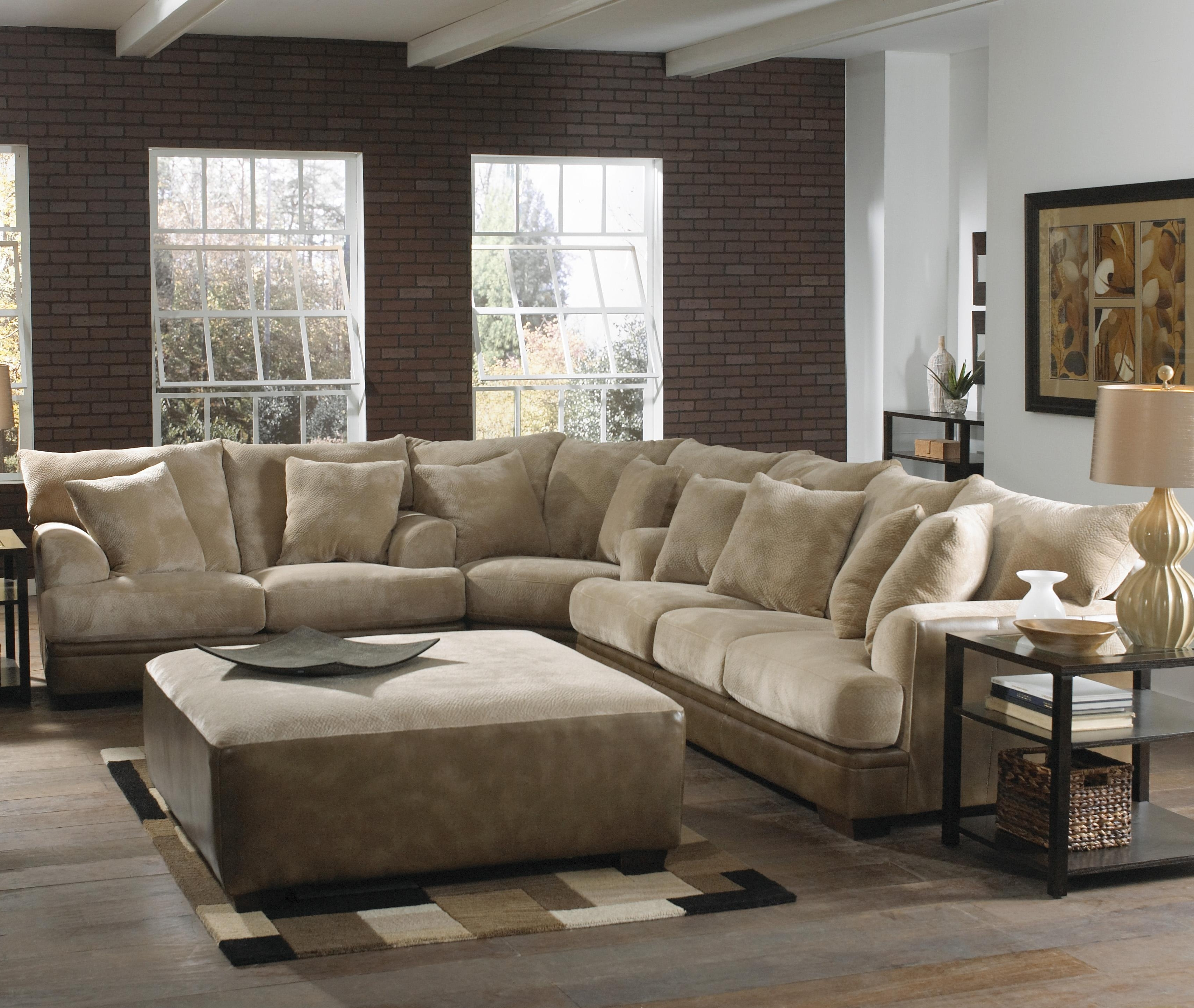Rustic Wooden Laminate Flooring With Light Brown Sofa Using Pertaining To Well Liked Sectional Sofas At The Brick (View 9 of 15)