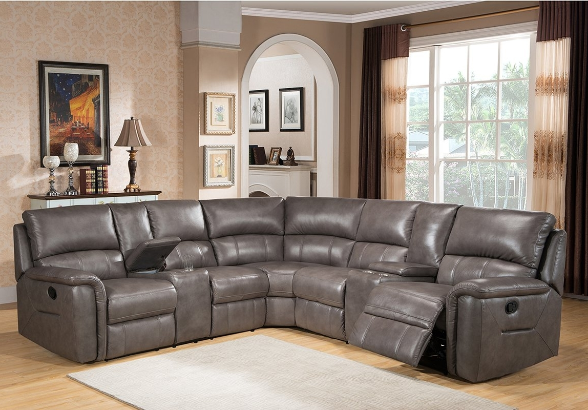 Sacramento Sectional Sofas Throughout Most Recently Released Amax Sacramento Leather Reclining Sectional & Reviews (View 7 of 15)