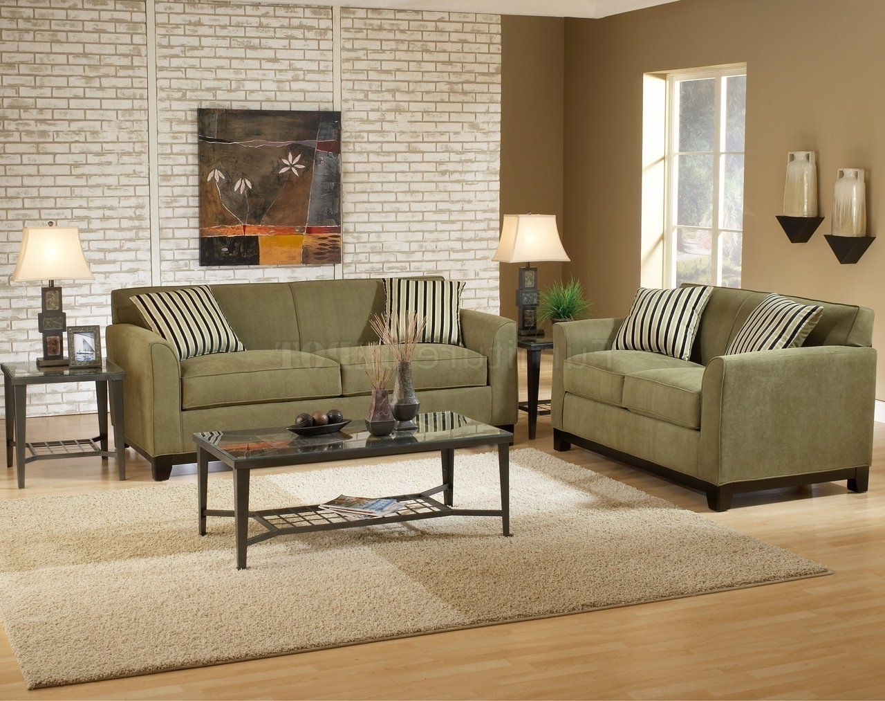 Sage Fabric Casual Modern Living (View 8 of 15)