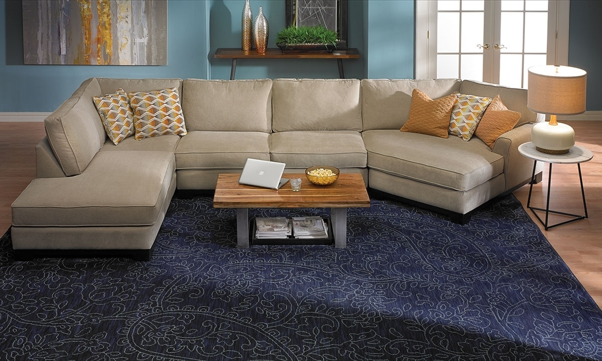 Sagittarius Cuddler Chaise Sectional (View 1 of 15)