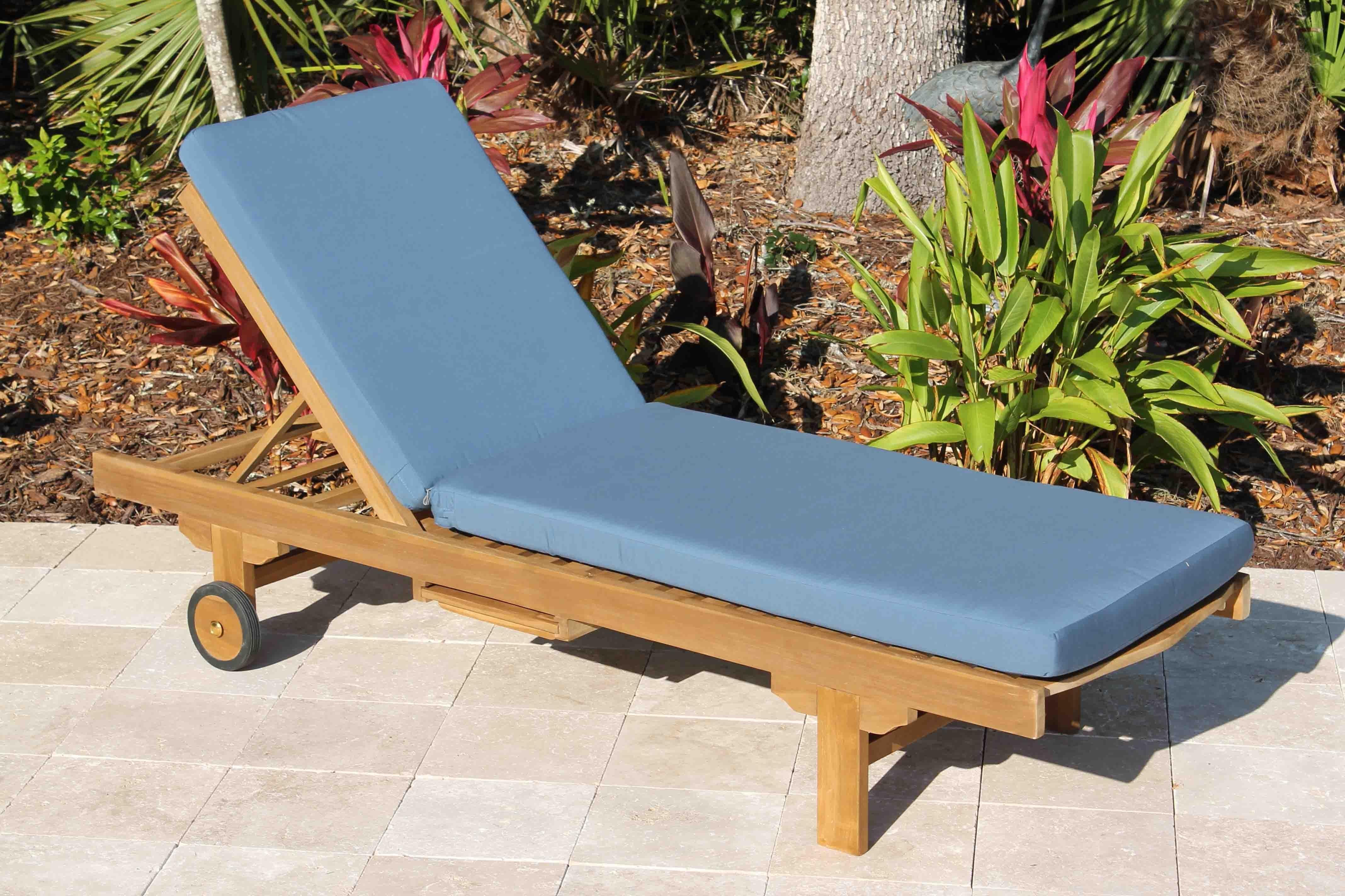Sale Sunbrella Fabric Chaise Lounge Cushion (View 7 of 15)