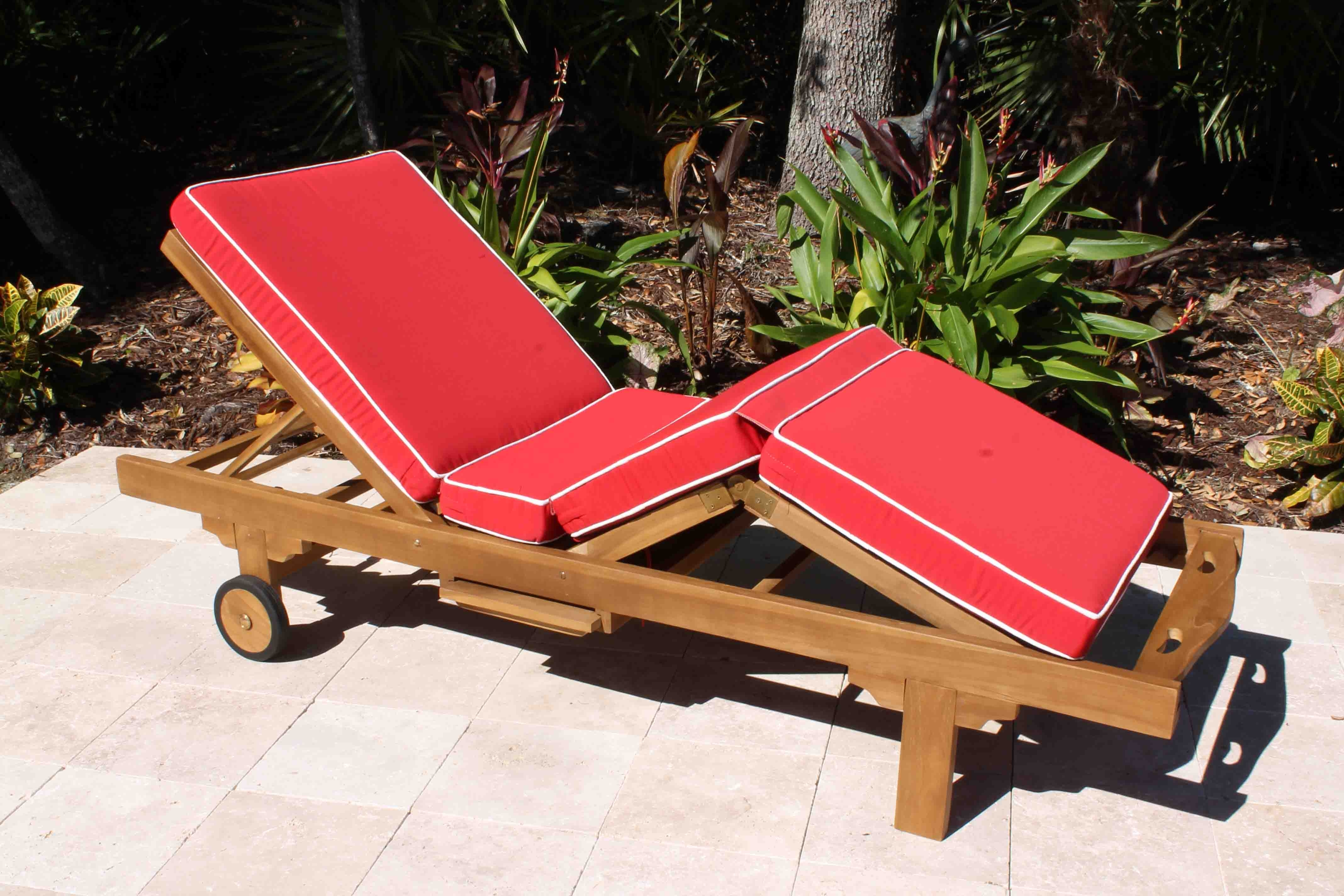 Sale Sunbrella Fabric Deluxe Chaise Lounge Cushion (View 8 of 15)