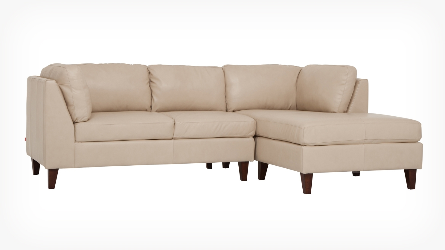 Salema 2 Piece Sectional Sofa With Chaise – Leather In Trendy Eq3 Sectional Sofas (View 14 of 15)