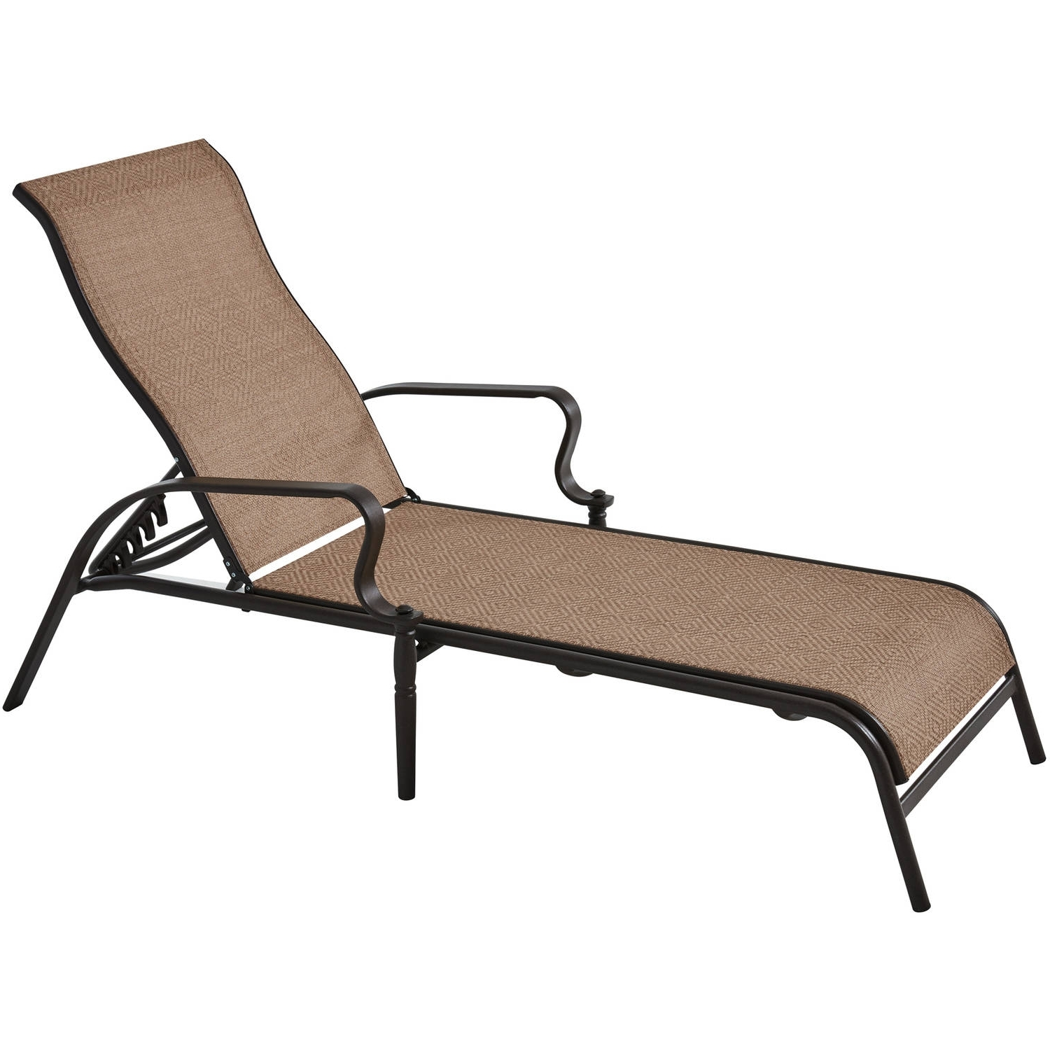 Sears Chaise Lounges With Widely Used Mainstays Wesley Creek Sling Outdoor Chaise Lounge – Walmart (View 12 of 15)