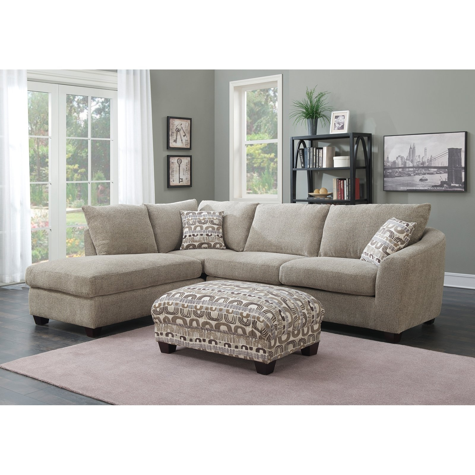Sectional Chaises With Regard To Well Known Emerald Home Urbana 2 Piece Sectional Sofa With Chaise – Walmart (View 14 of 15)
