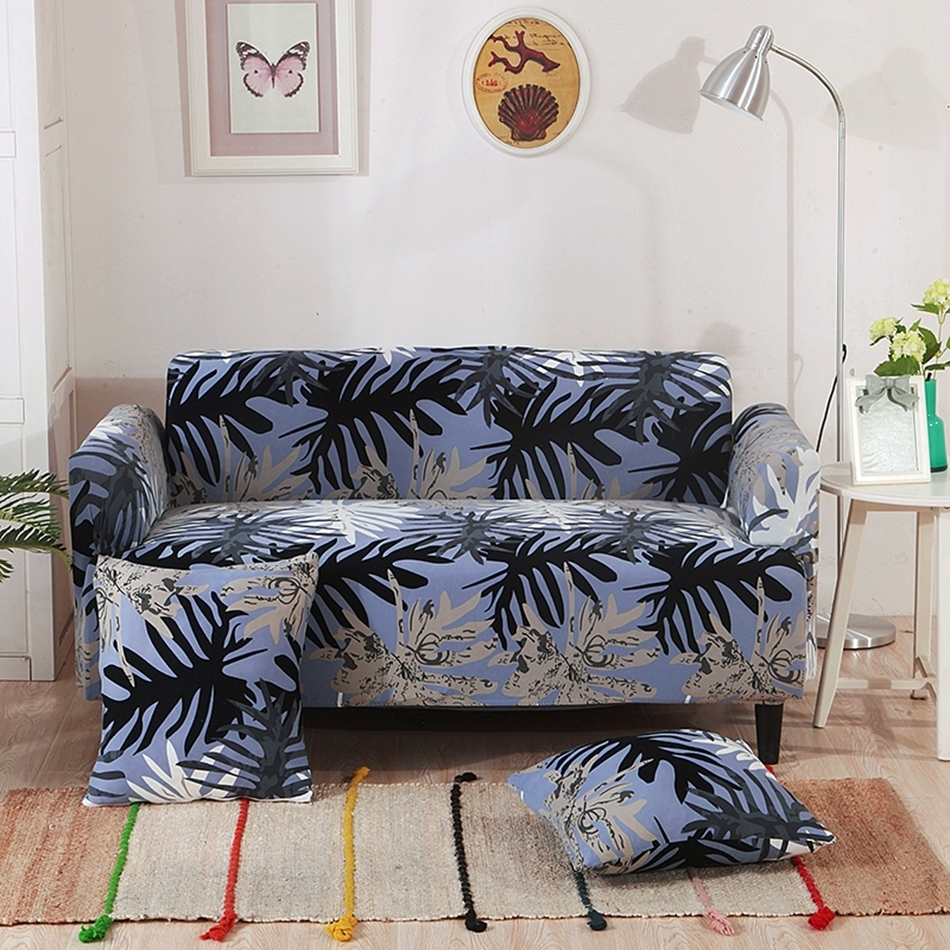 Sectional Couch Covers Leaves Patterns Hawaii Style Elastic For Favorite Hawaii Sectional Sofas (View 12 of 15)