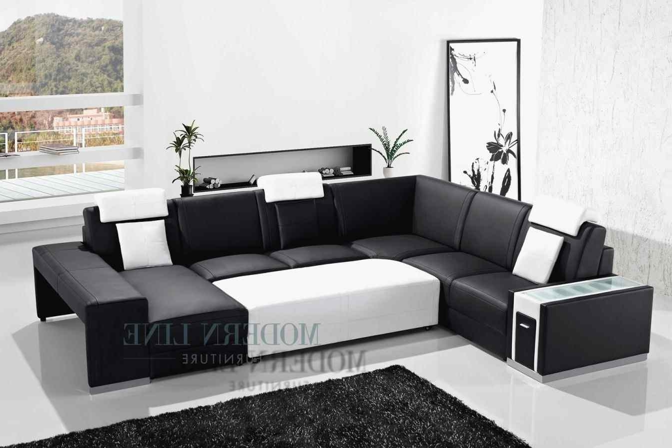 Sectional Couches With Large Ottoman Pertaining To Latest Couch : With Chaise Scandinavian Style Ottoman Serta Brand Sofa (View 13 of 15)