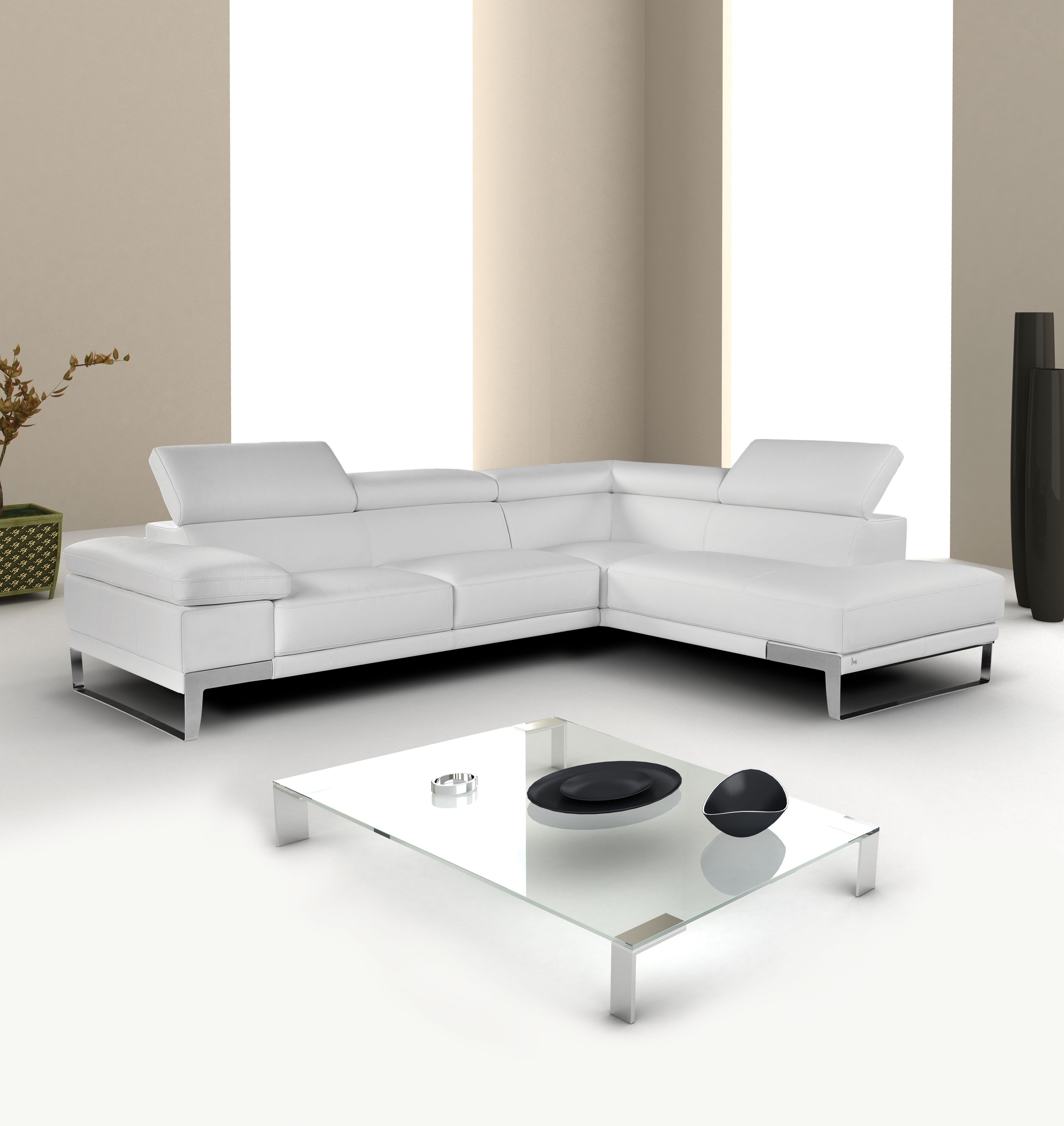 Sectional Modern Sofa Interior White Button Leather Furniture In Well Known Vancouver Bc Canada Sectional Sofas (View 12 of 15)