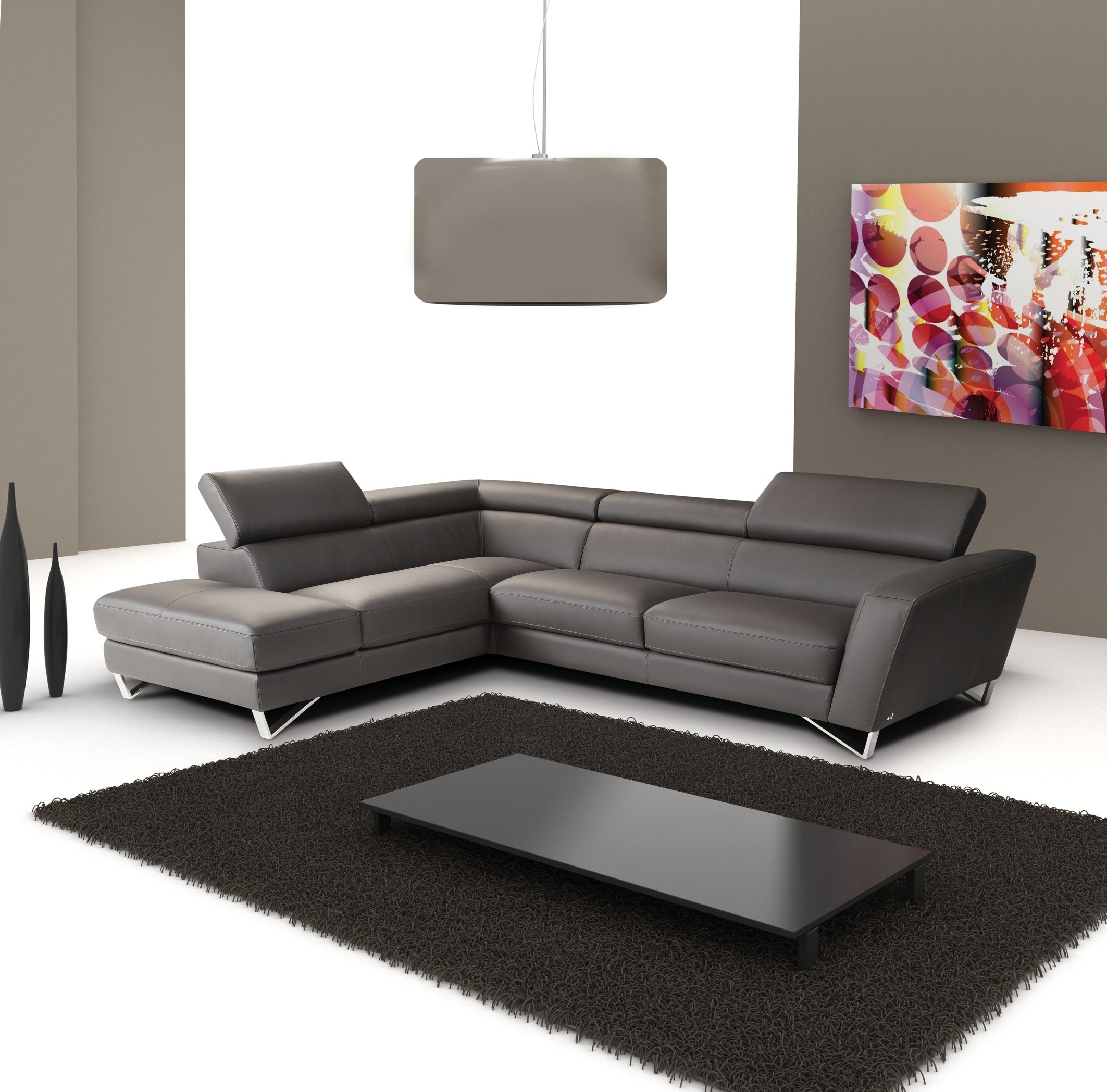 Sectional Modern Sofa Interior White Button Leather Furniture Intended For 2018 Vancouver Bc Canada Sectional Sofas (View 10 of 15)