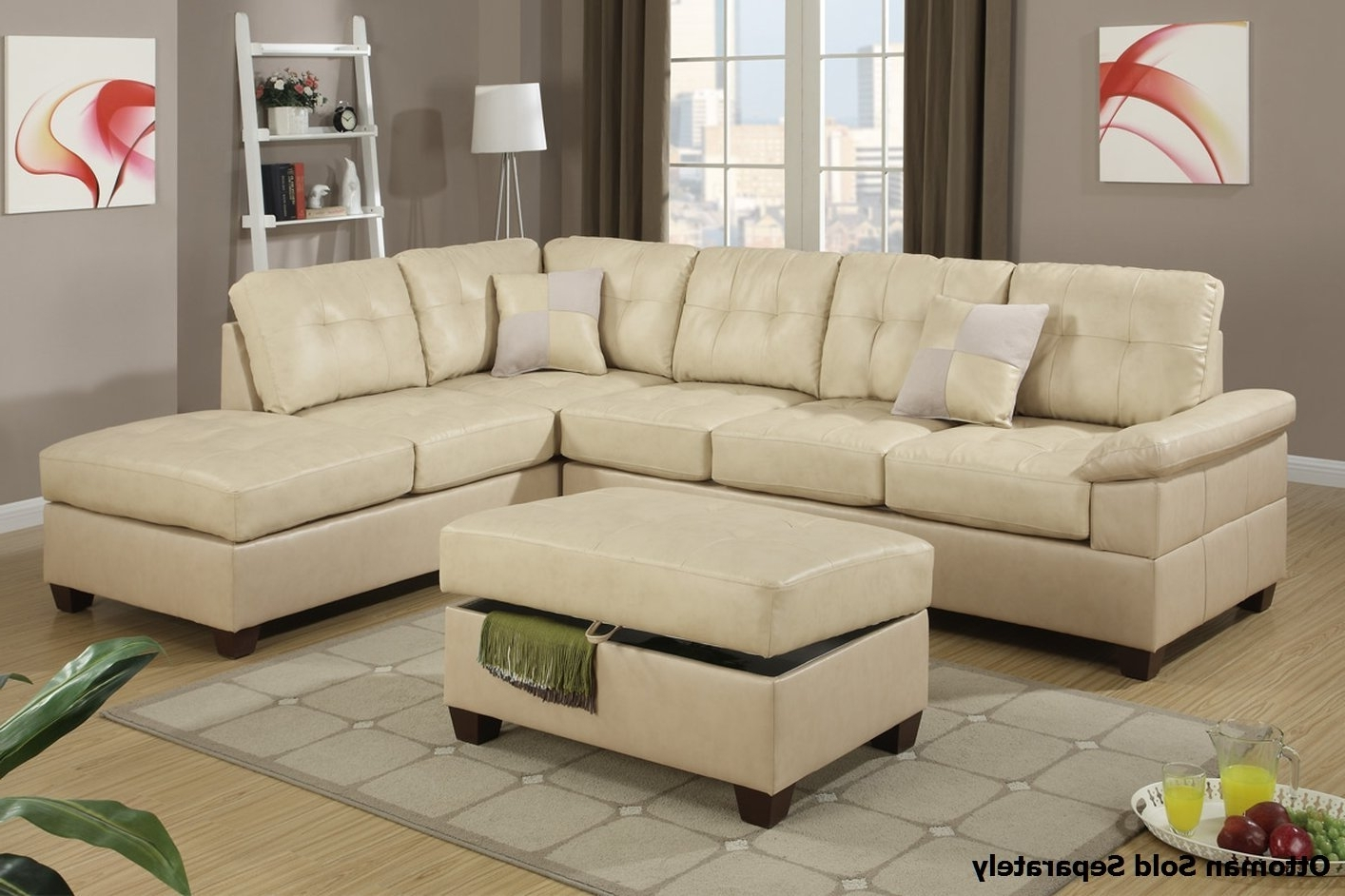 Sectional Sofa Design: Amazing Beige Sectional Sofas Beige Leather With Fashionable Cream Chaise Sofas (Gallery 13 of 15)