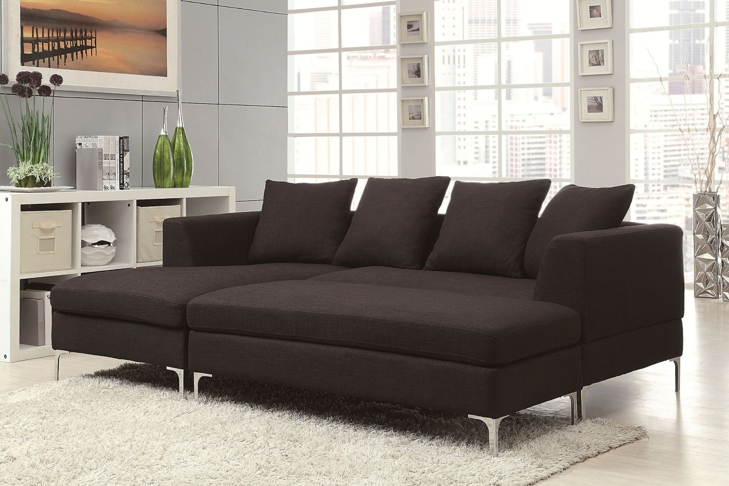 Sectional Sofa Design: Amazing Sofa Chaise Sectional Leather Inside Preferred Sectional Sofa Chaises (View 13 of 15)
