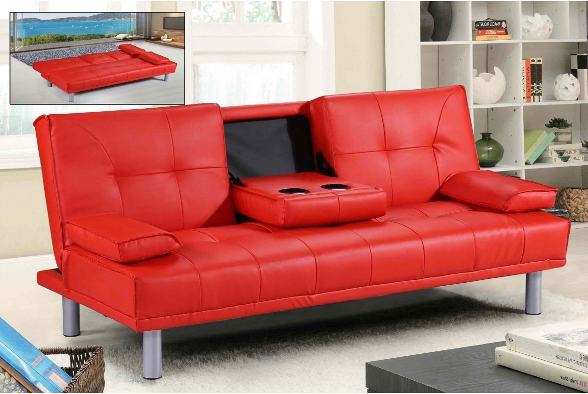 Sectional Sofa Design: Good Looking Red Leather Sectional Sofa Red With Most Recent Red Leather Couches And Loveseats (View 5 of 15)