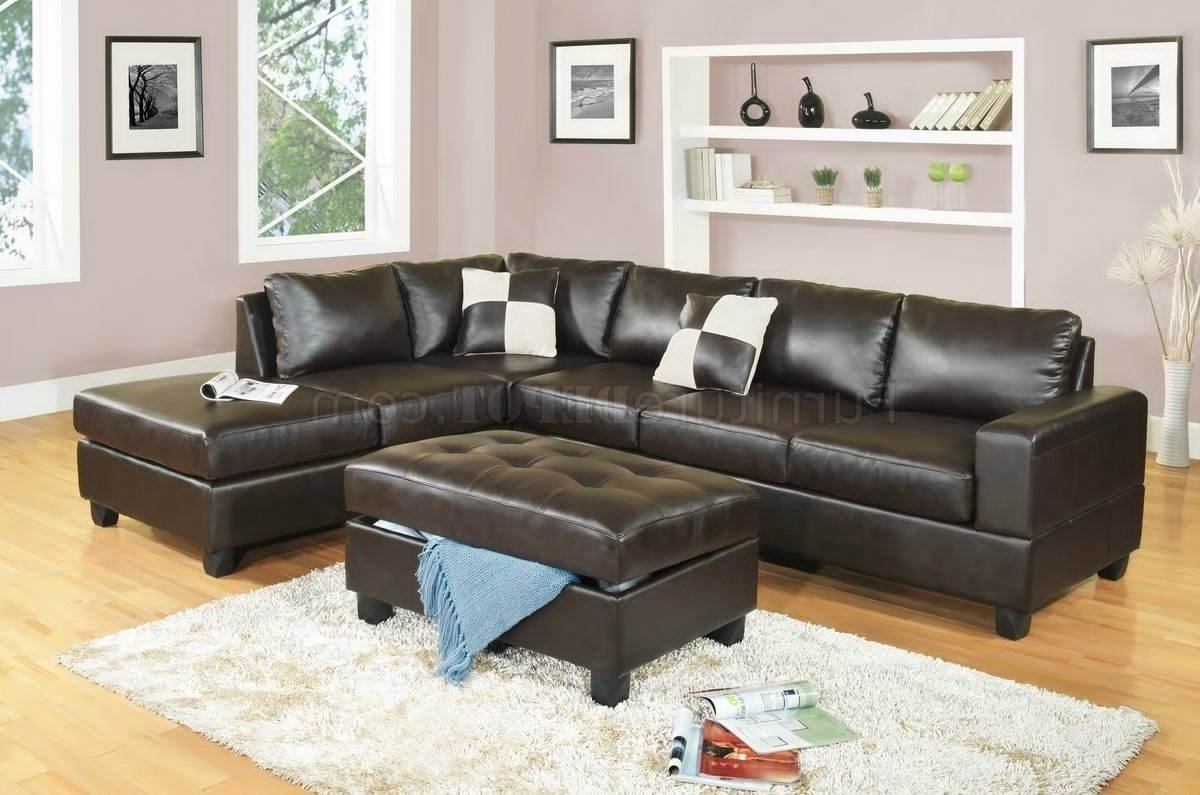 Sectional Sofa Design: Leather Sectional Sofa With Ottoman In Well Known Leather Sectional Sofas With Ottoman (View 14 of 15)