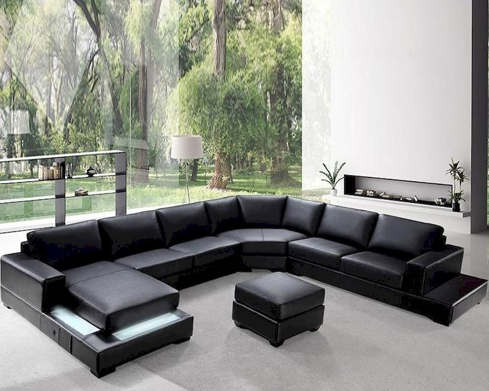 Sectional Sofa Design: Low Profile Sectional Sofa Contemporary Mid Regarding Favorite Low Sofas (View 9 of 15)