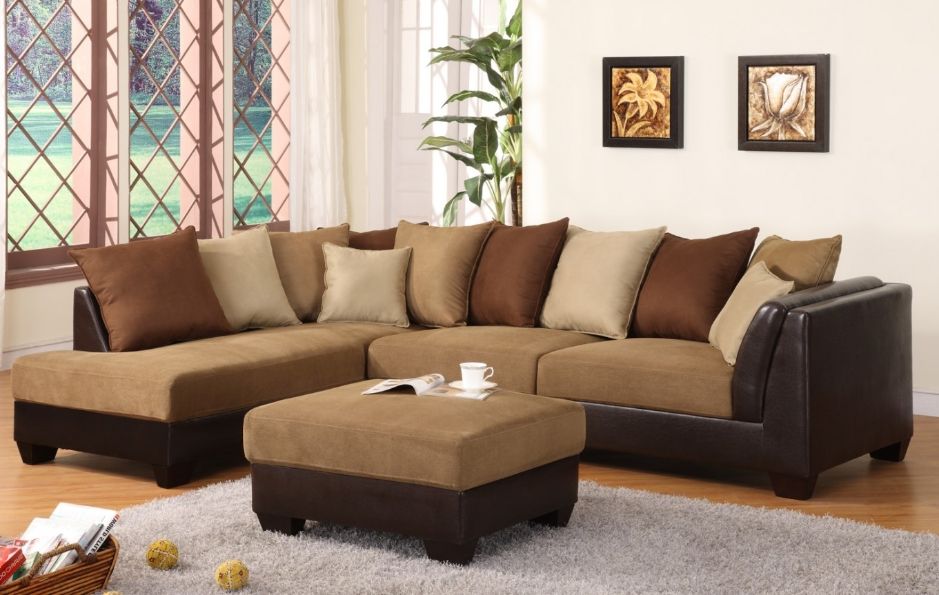 Sectional Sofa Design: Sectional Sofas Brown Best Design Leather With Regard To Most Popular Modern Microfiber Sectional Sofas (View 12 of 15)