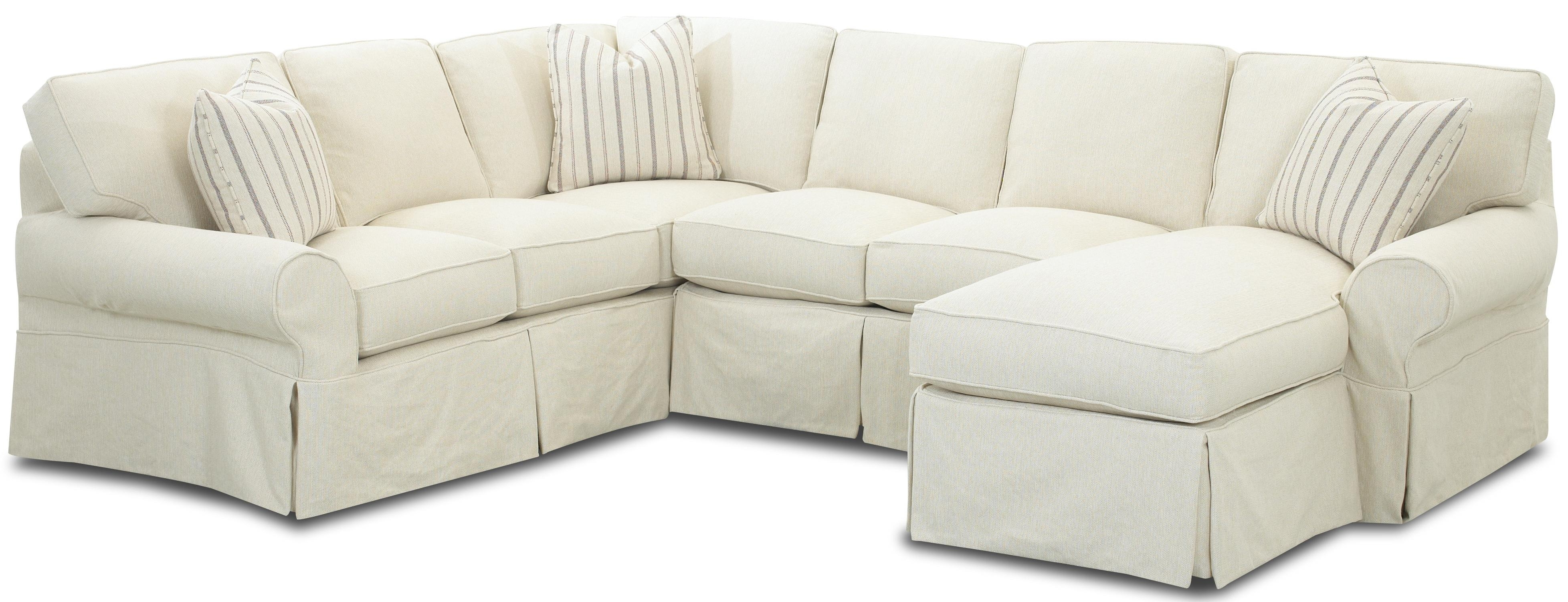 Sectional Sofa Design: Slipcovered Sectional Sofa Chaise Reviews Within Most Popular Slipcovered Sofas With Chaise (View 9 of 15)