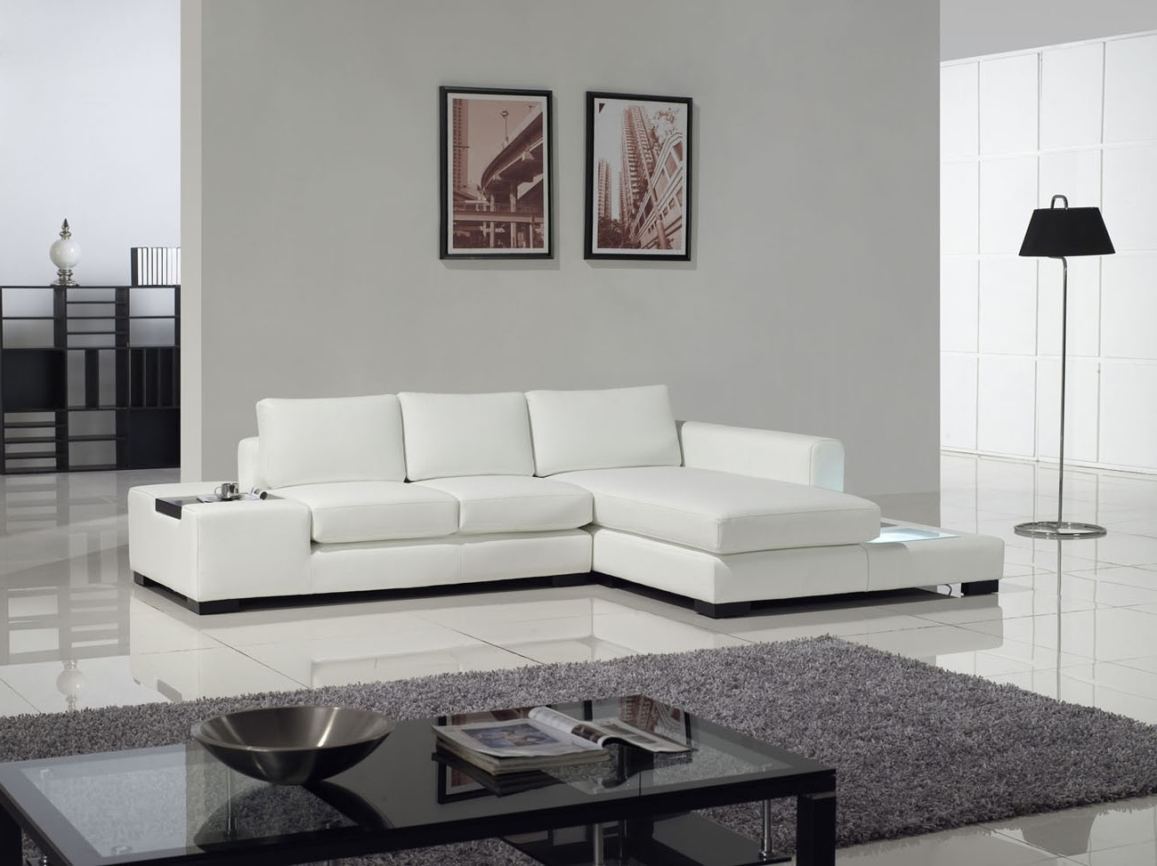 Sectional Sofa Design: Top Rated White Modern Sectional Sofa In Recent White Modern Sofas (View 9 of 15)
