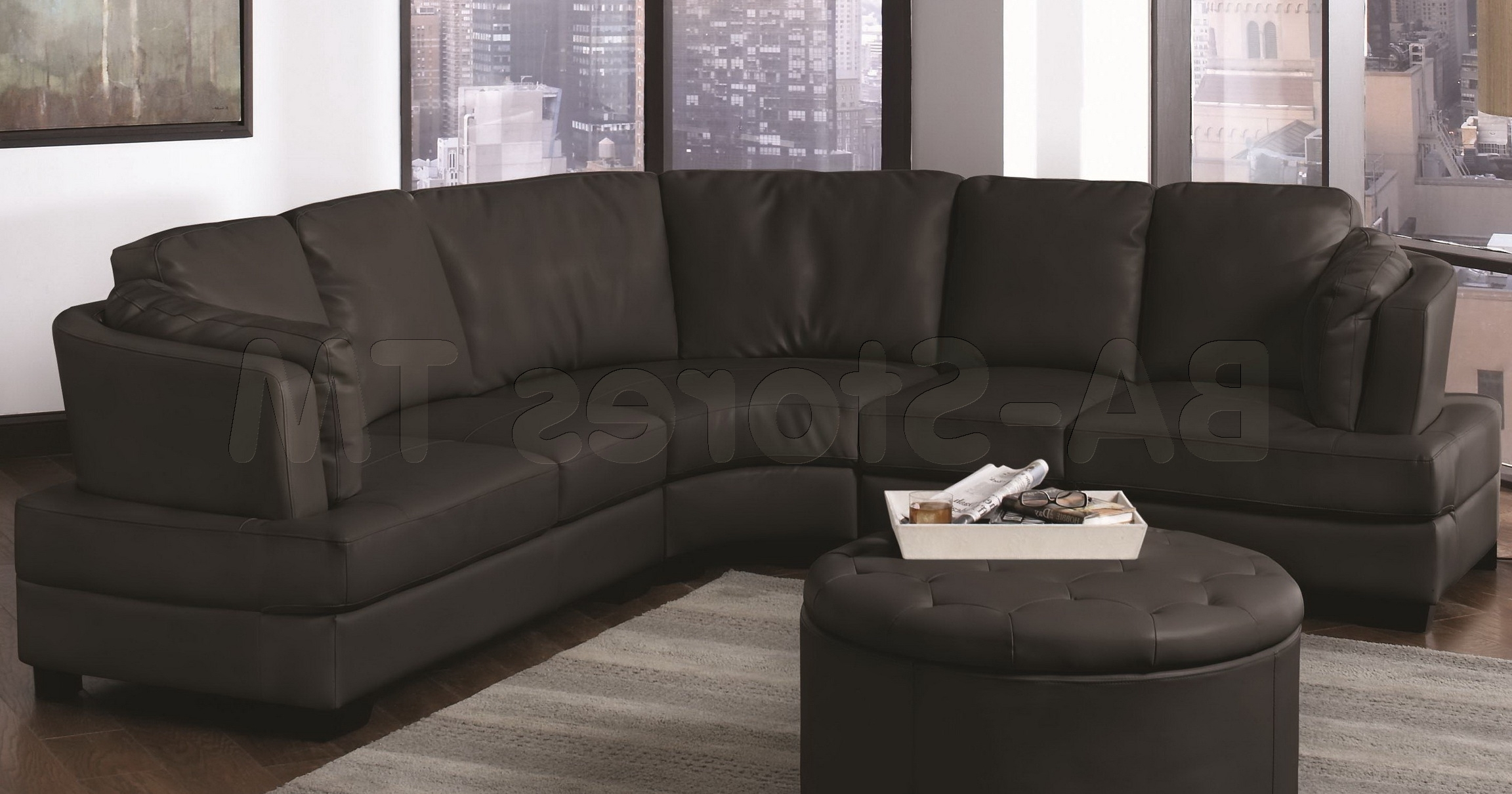 Sectional Sofa : Round Couch Curved Two Seater Sofa Reclining With Regard To Most Recent Rounded Corner Sectional Sofas (View 6 of 15)