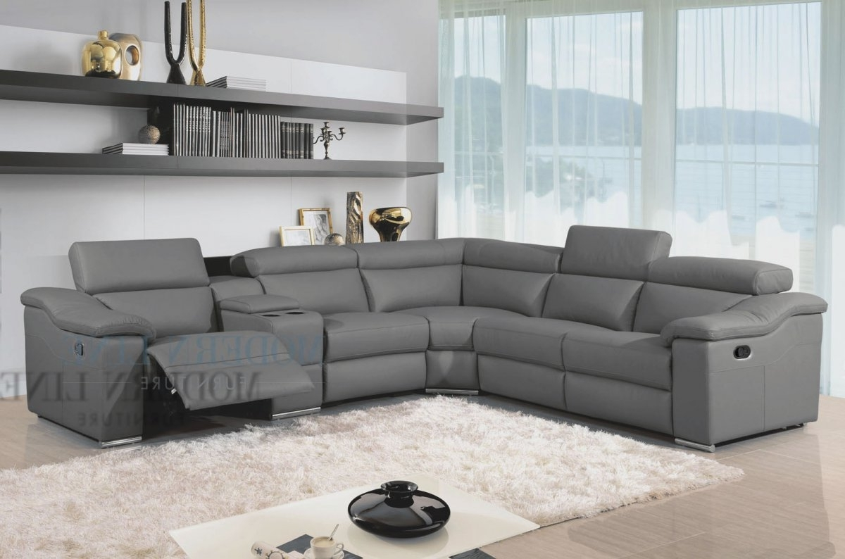 Sectional Sofa With Chaise Tags : Leather Sectional Sofa With Throughout Recent Leather Recliner Sectional Sofas (View 8 of 15)
