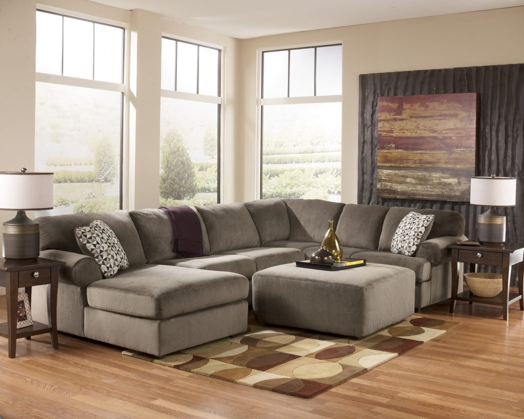 Sectional Sofa With Oversized Ottoman Furniture Amazing And Area For Popular Sectionals With Oversized Ottoman (View 5 of 15)