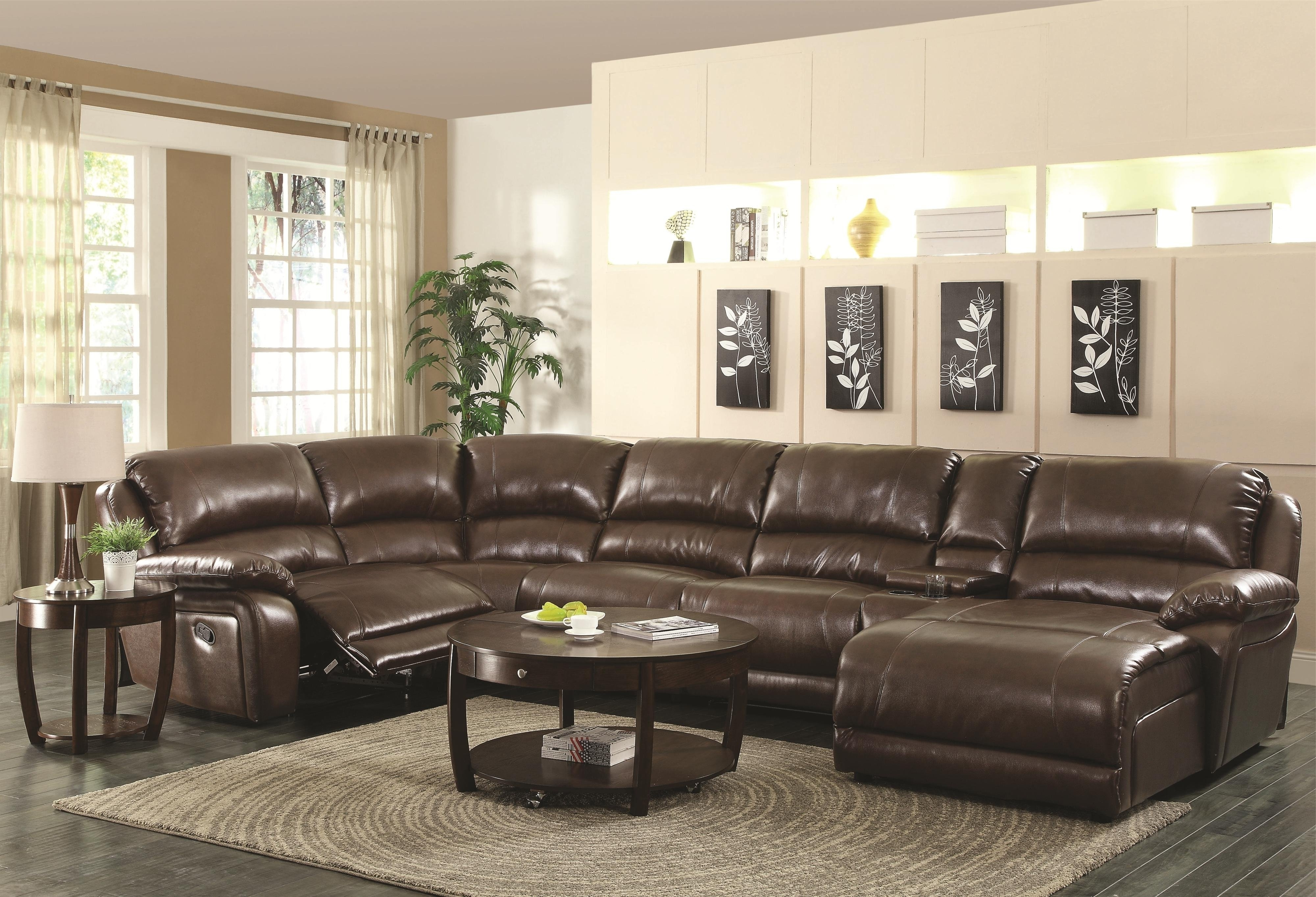 Sectional Sofa With Recliners – Pelagia With Regard To Well Liked Sectional Couches With Recliner And Chaise (View 12 of 15)