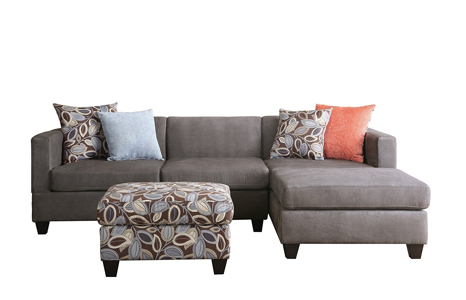 Sectional Sofas At Amazon Within 2018 Amazon: Bobkona Poundex Simplistic Collection 3 Piece (View 13 of 15)