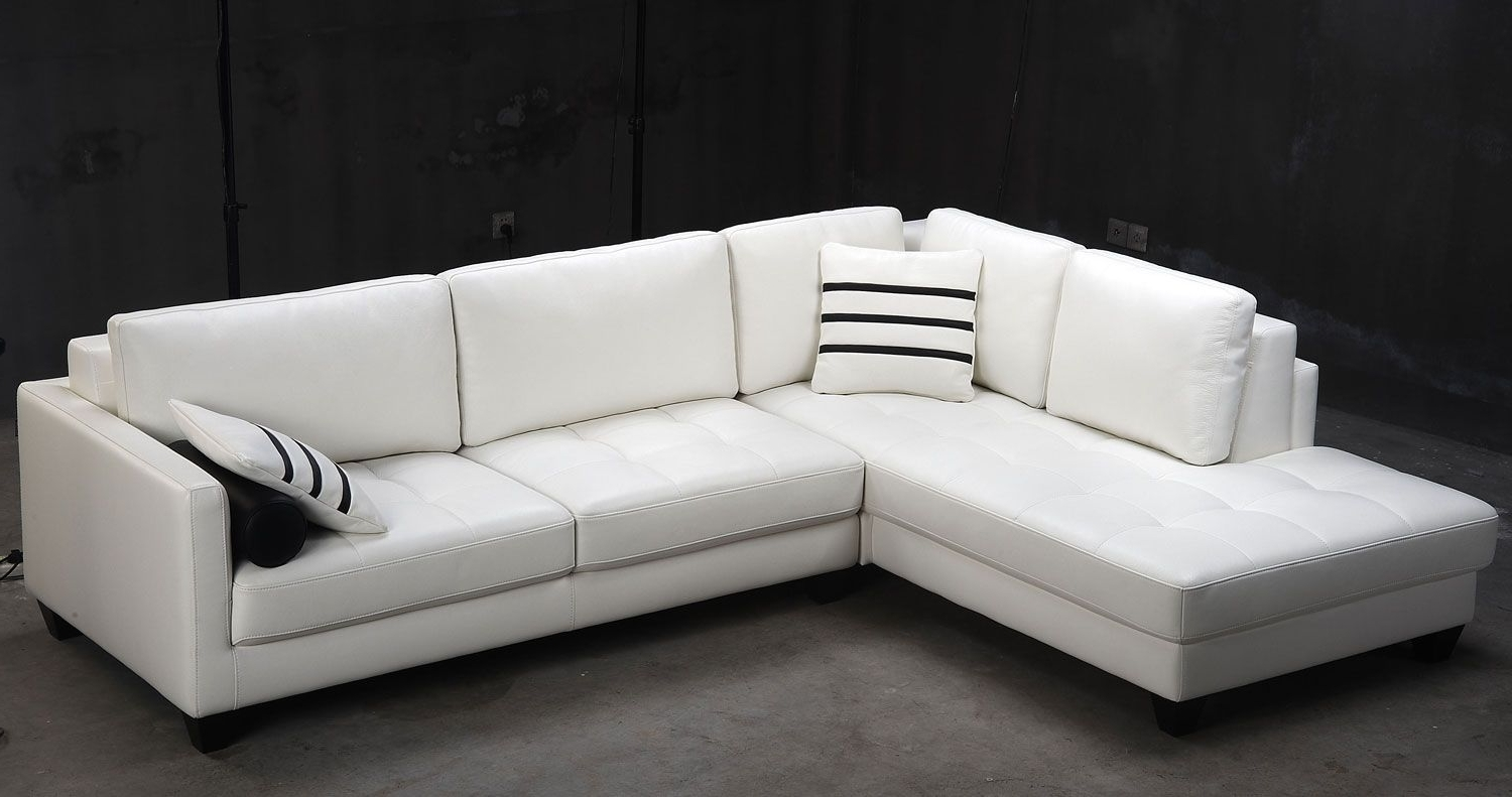 Sectional Sofas At Bc Canada With Regard To Famous Contemporary White Sectional L Shaped Sofa Design Ideas For Living (View 13 of 15)