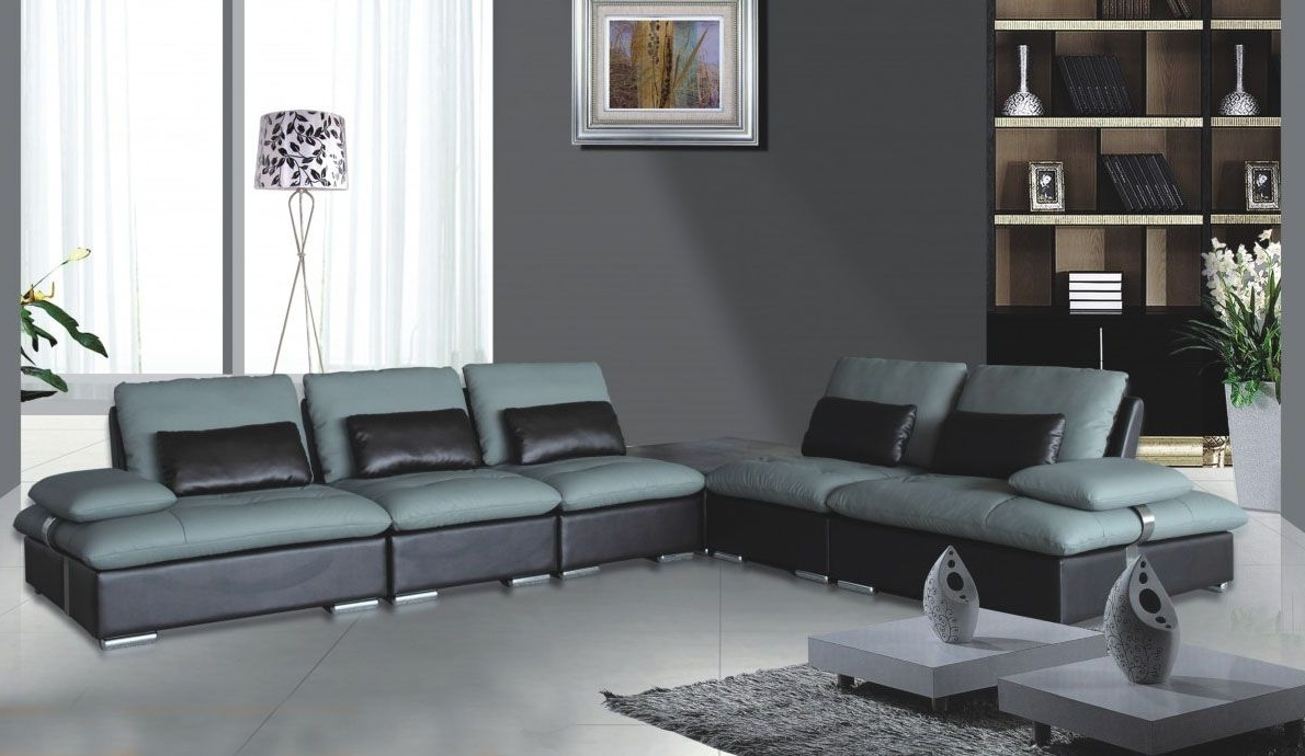 Sectional Sofas At Chicago With Regard To Trendy Sectional Sofa Chicago And Unique Leather Two Tone Grey And (View 11 of 15)
