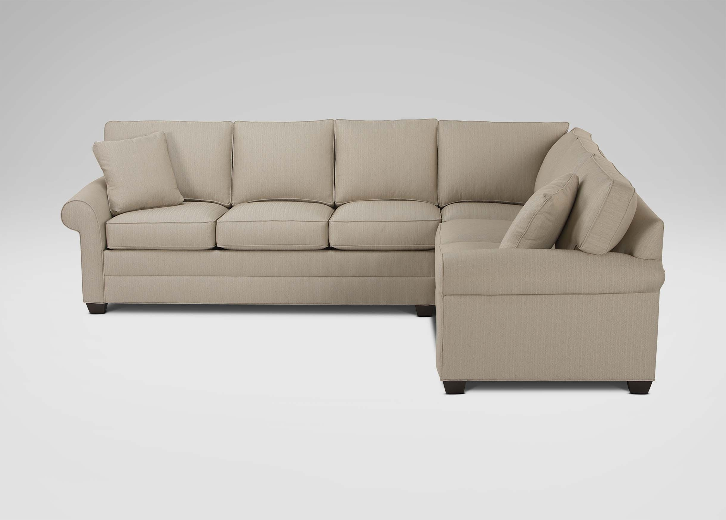 Sectional Sofas At Ethan Allen With Regard To Popular Bennett Roll Arm Sectional (View 11 of 15)