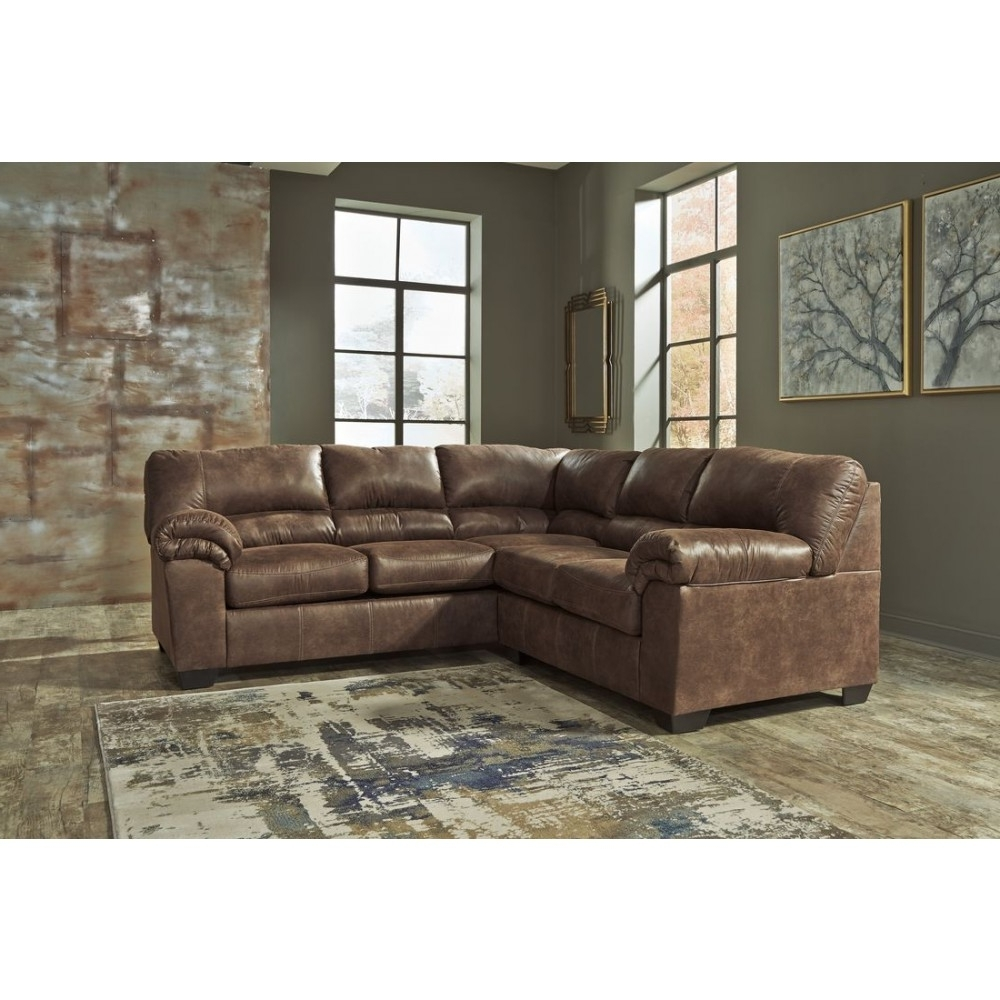 Sectional Sofas At Sam's Club With Well Liked Ashley Furniture Black Friday Hampton Leather Reversible Sectional (View 6 of 15)