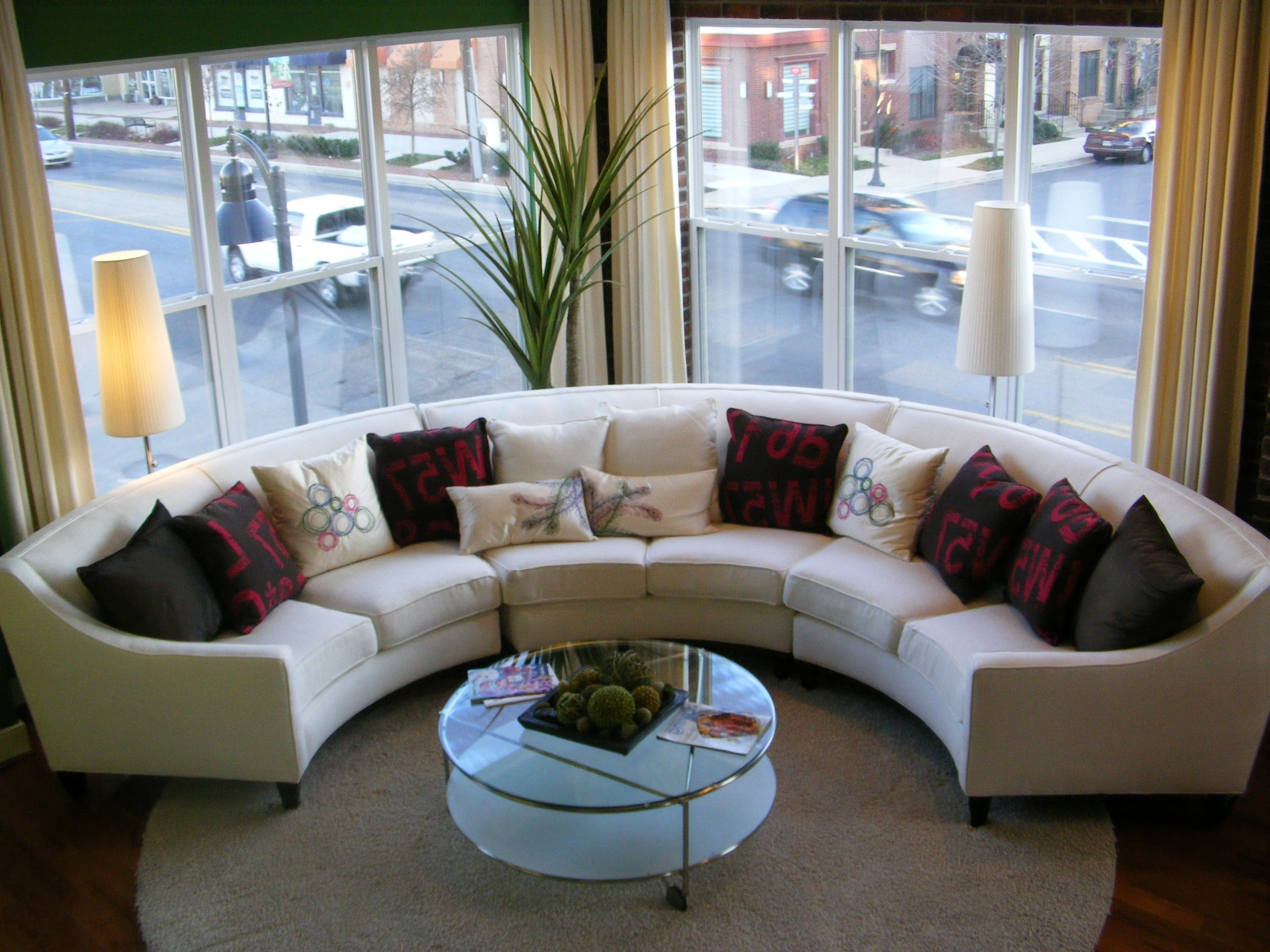 Sectional Sofas Decorating Regarding Current Small Living Room Decorating Ideas For Apartments With White (View 15 of 15)