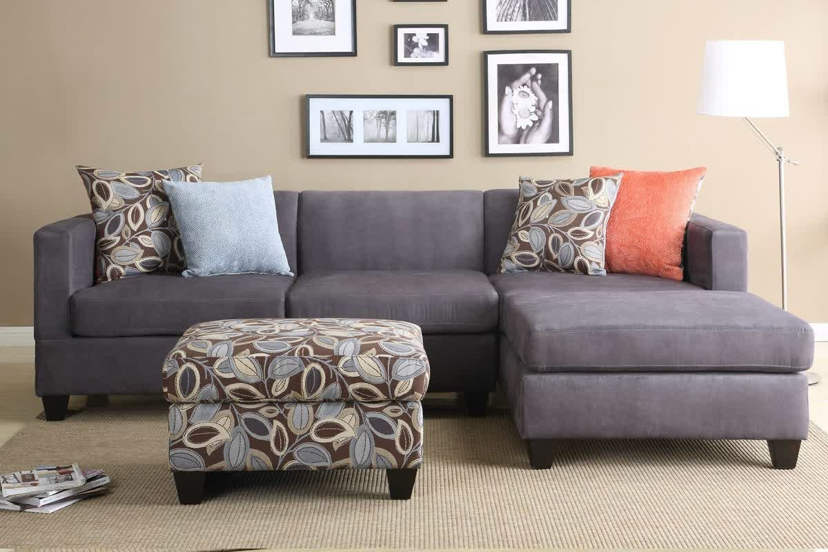 Sectional Sofas For Small Rooms With Regard To Most Recently Released Leather Sectional Sleeper Sofa Modular Brown Couch Small Apartment (View 8 of 15)