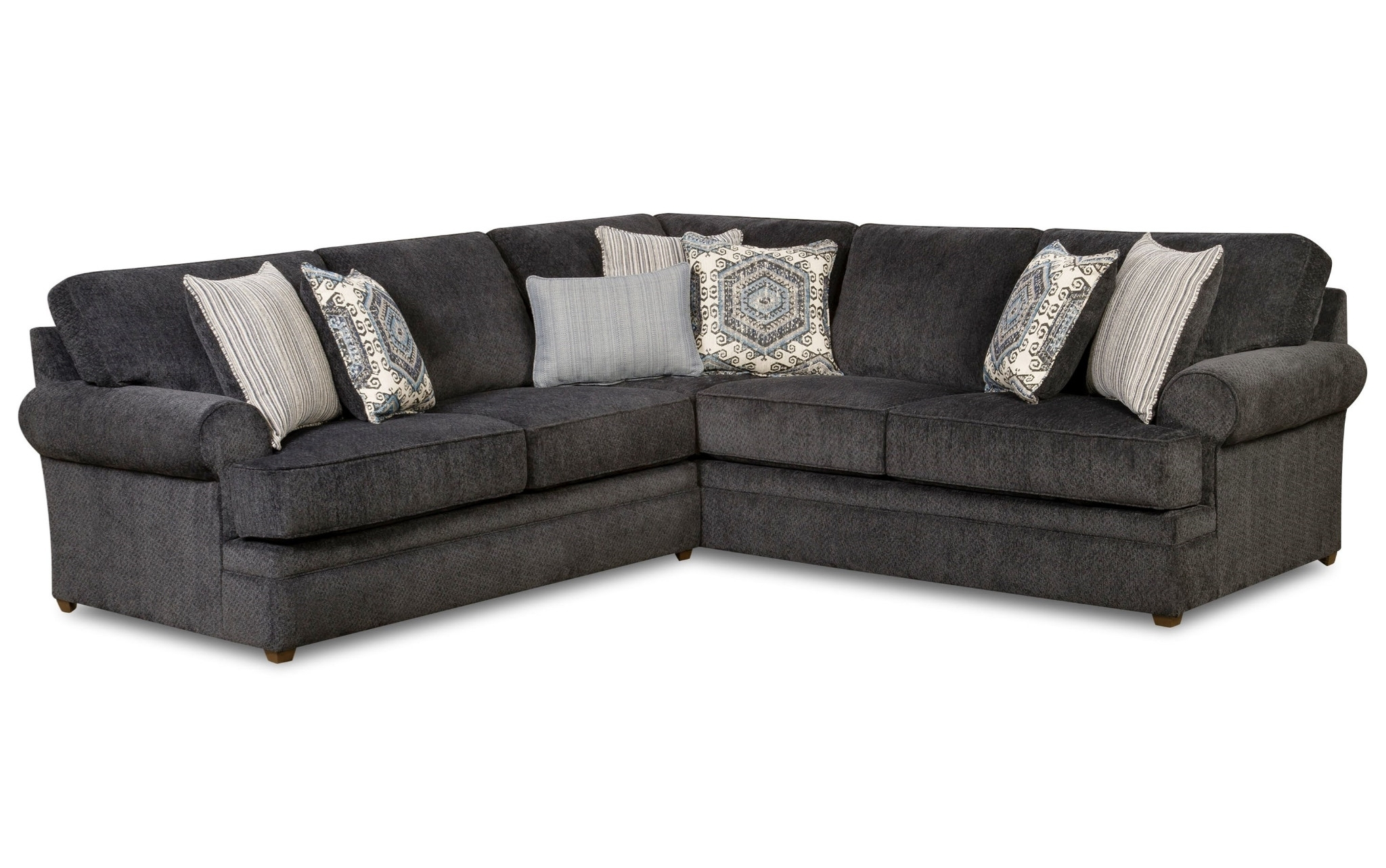 Sectional Sofas In Greensboro Nc With 2017 Bellamy Slate 2 Piece Sectional Beauty Restsimmons $ (View 11 of 15)