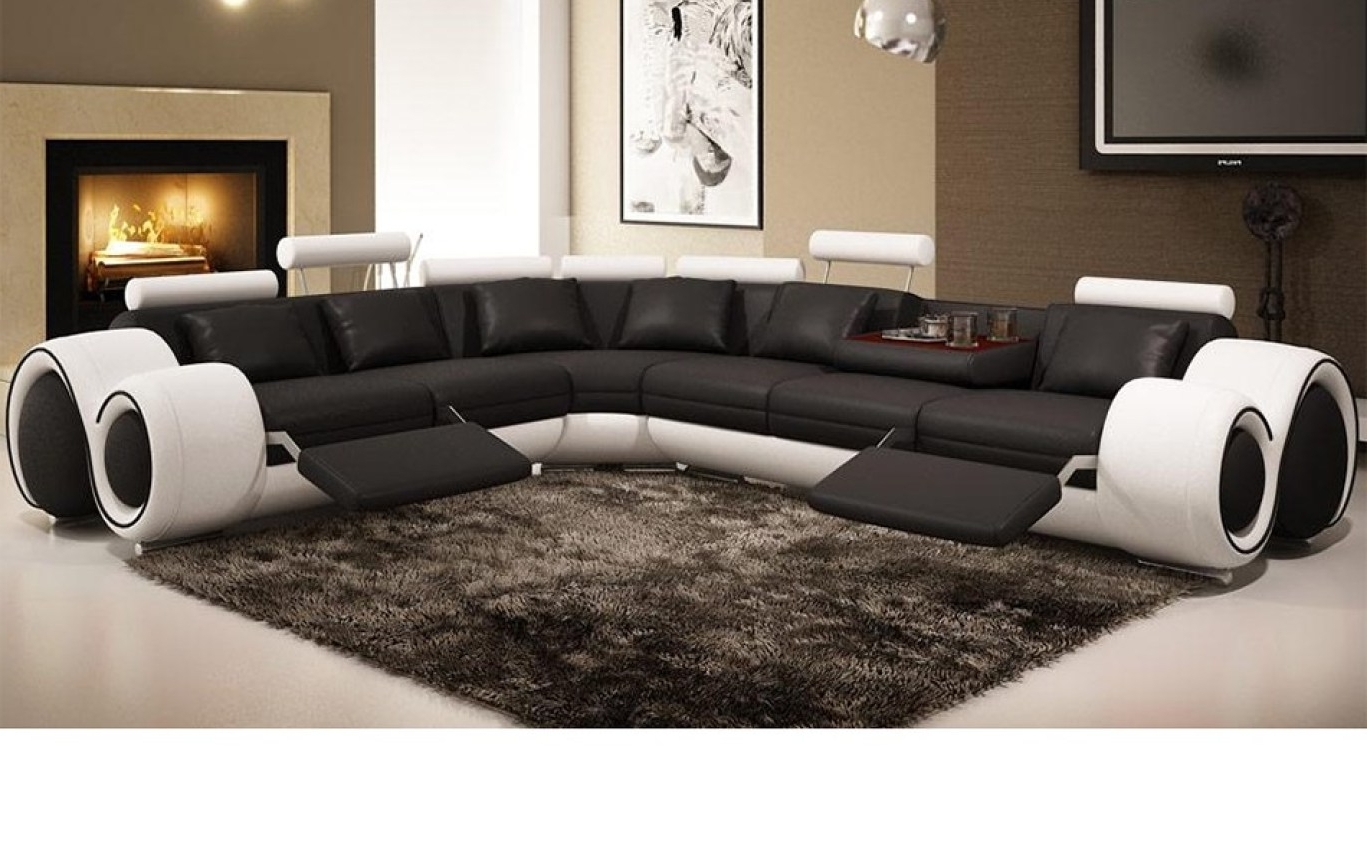 Sectional Sofas In Philippines With Preferred Recliner : Ideal Sectional Sofa With Recliner Leather Hypnotizing (View 11 of 15)