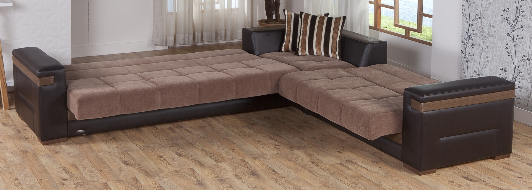 Sectional Sofas In Stock For Latest Moon Troy Brown Sectional Sofa Moon Sunset Furniture Sectional (View 10 of 15)