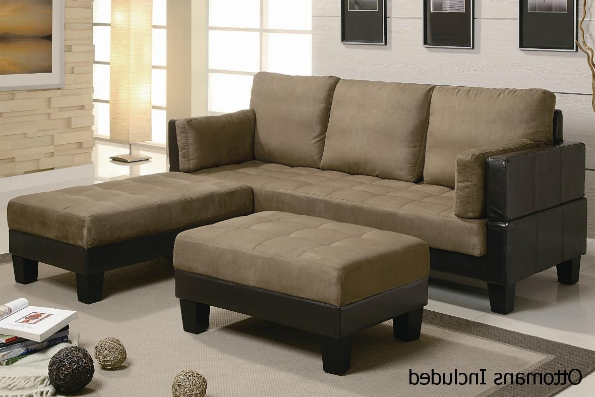 Sectional Sofas That Turn Into Beds Throughout Well Known Brown Leather Sectional Sofa And Ottoman – Steal A Sofa Furniture (View 11 of 15)