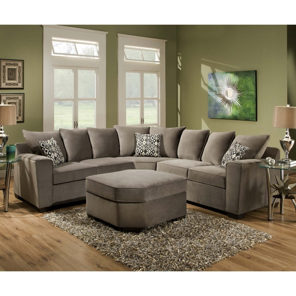 Sectional Sofas Under 1000 Intended For 2017 Sofa Greyectional Gray With Recliner Leonsleeper Nailhead Trim (View 13 of 15)