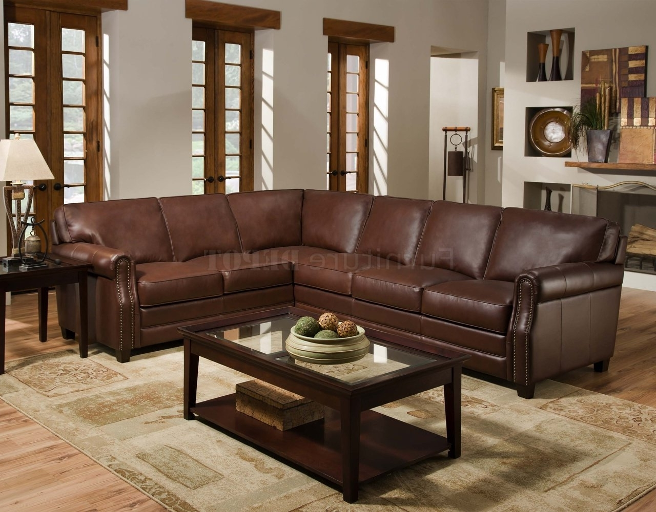 Sectional Sofas Under 400 Regarding Most Recently Released Furniture: Brown Leather Cheap Sectional Sofas Under 400 Plus Area (View 12 of 15)