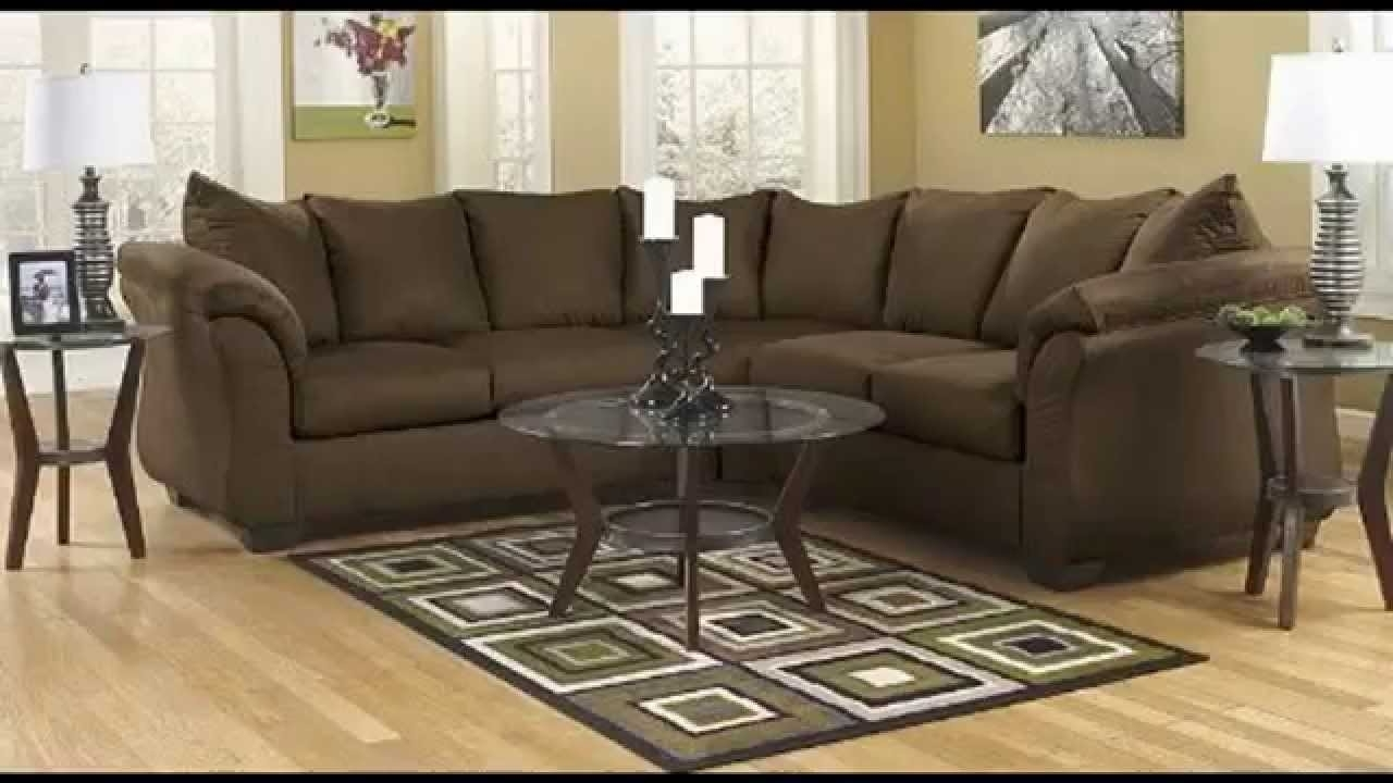 Sectional Sofas Under 900 With Most Recently Released Sectional Sofa, Pillow Back Cushions Cafe Fabric – Youtube (View 11 of 15)
