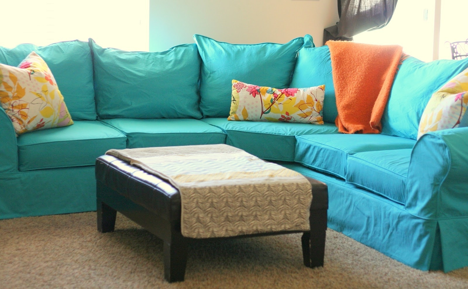 Sectional Sofas With Covers Regarding Current 2 Cushion Sofa Slipcover Slip Covers For Six Cushion Sofa (View 9 of 15)
