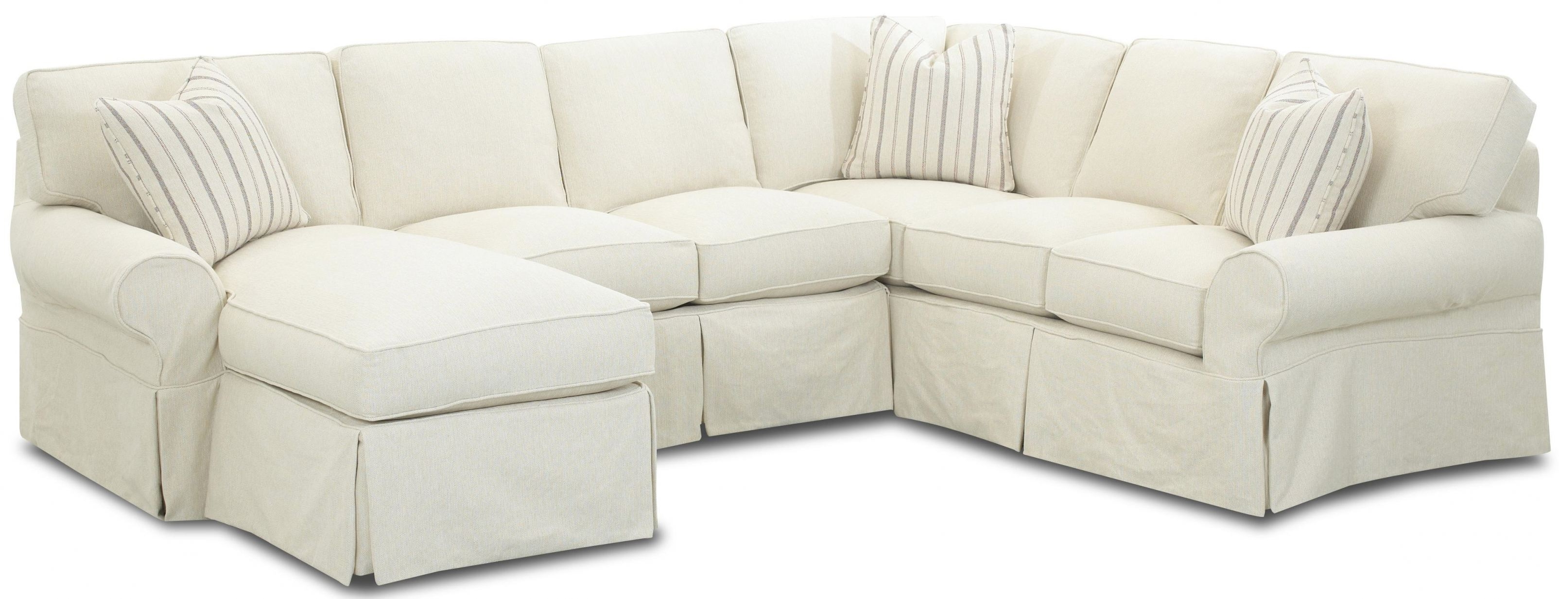 Sectional Sofas With Covers Within Fashionable Grey Microfiber Sectional Sofa (View 11 of 15)