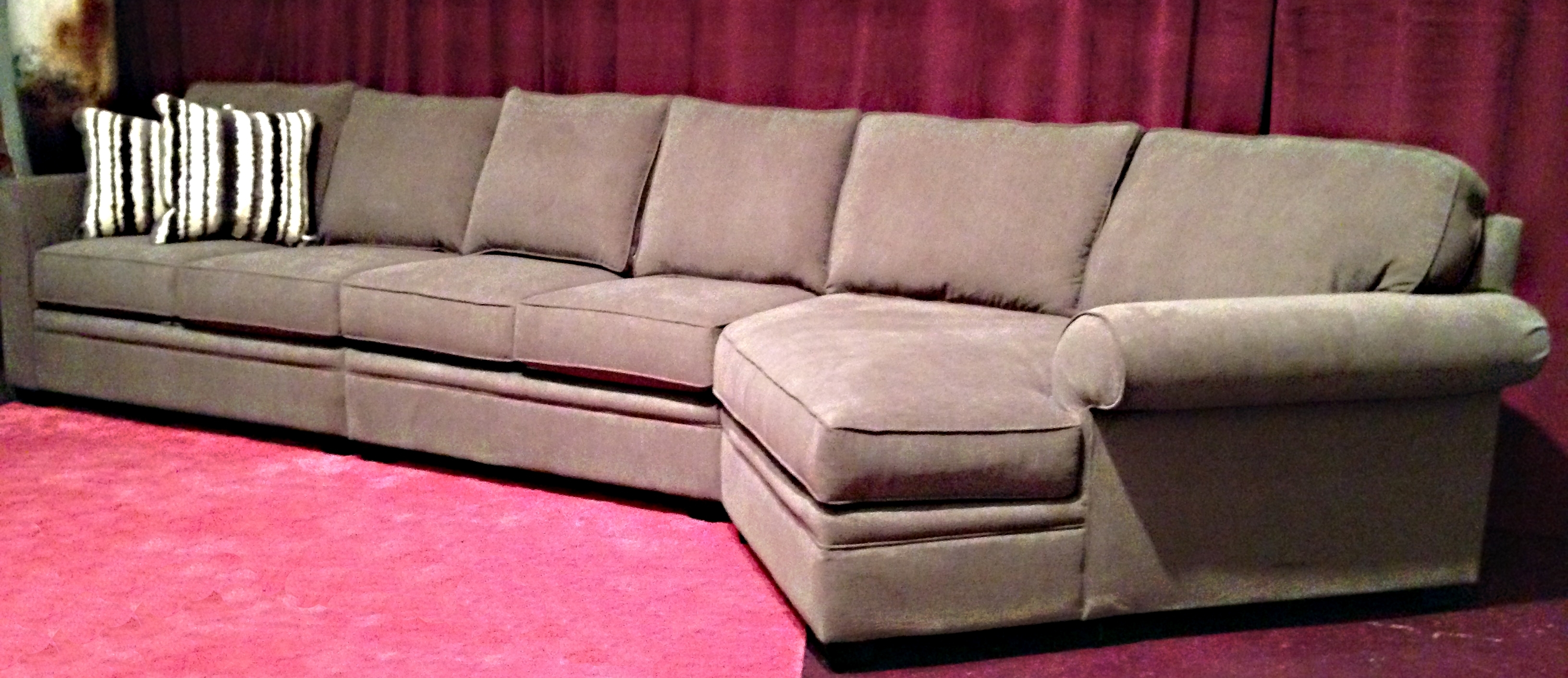 Sectional Sofas With Cuddler Chaise Intended For Best And Newest Deep L Shaped Seated Couch With Chaise Lounge Of 15 Outstanding (View 14 of 15)