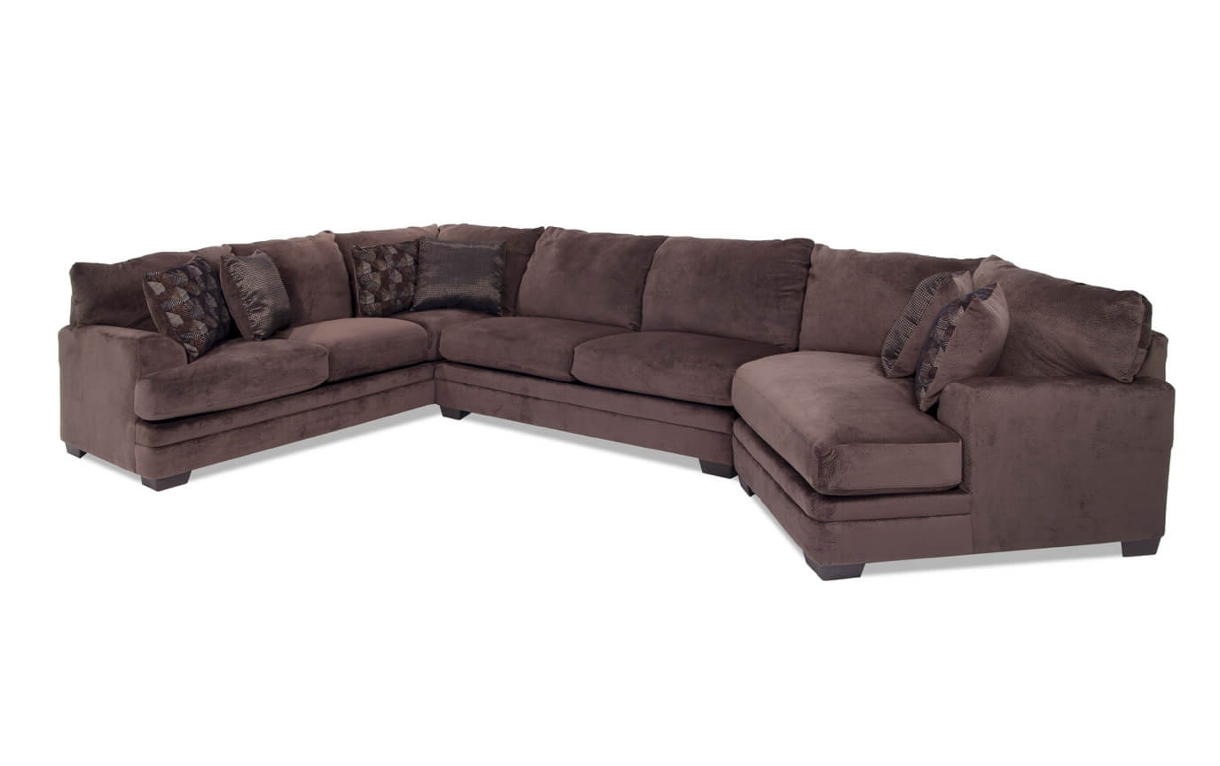 Sectional Sofas With Cuddler Chaise Intended For Famous Charisma 3 Piece Right Arm Facing Sectional With Cuddler Chaise (View 11 of 15)