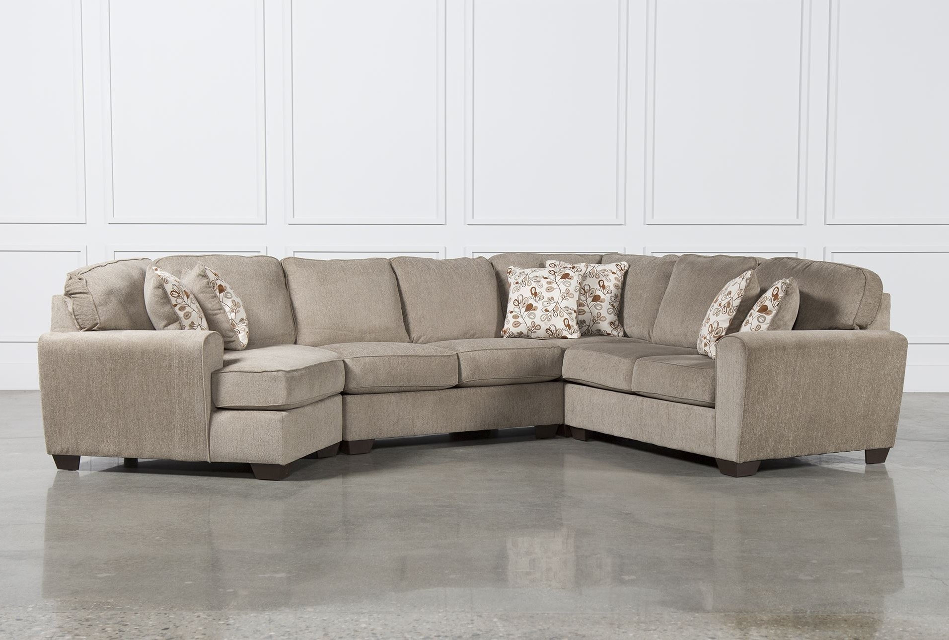 Sectional Sofas With Cuddler Inside 2017 Patola Park 4 Piece Sectional W Raf Cuddler Living Spaces In Sofa (View 10 of 15)
