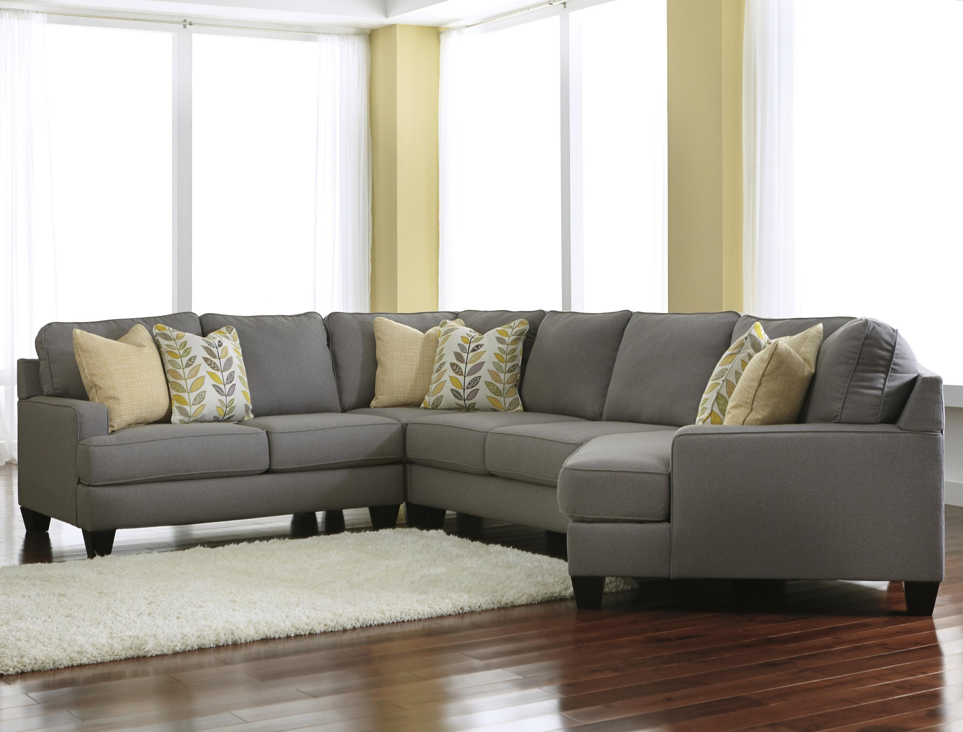 Sectional Sofas With Cuddler Pertaining To Preferred Signature Designashley Chamberly – Alloy Modern 4 Piece (View 8 of 15)