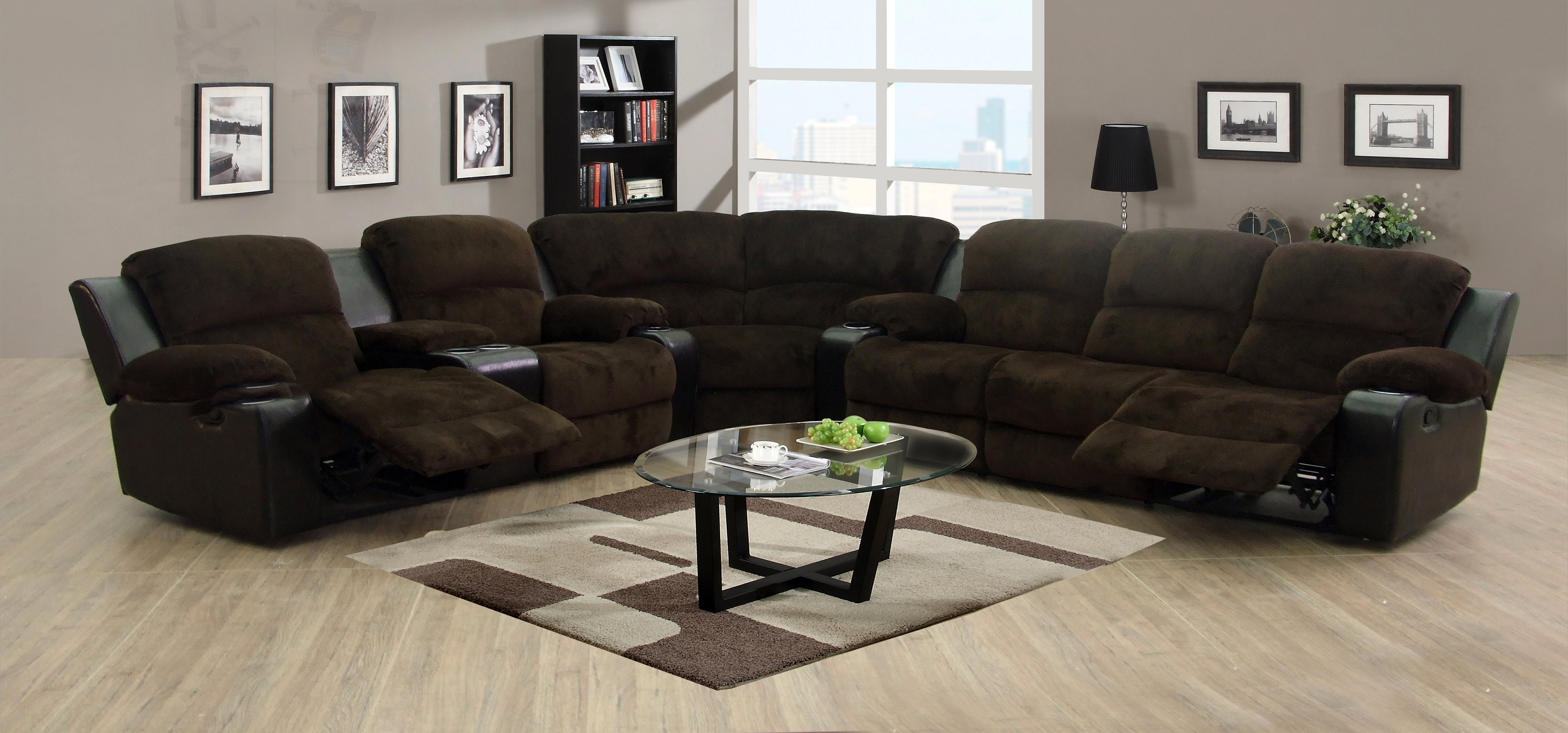 Sectional Sofas With Cup Holders Intended For Popular Best Sectional Sofas With Recliners And Cup Holders Gallery (View 9 of 15)