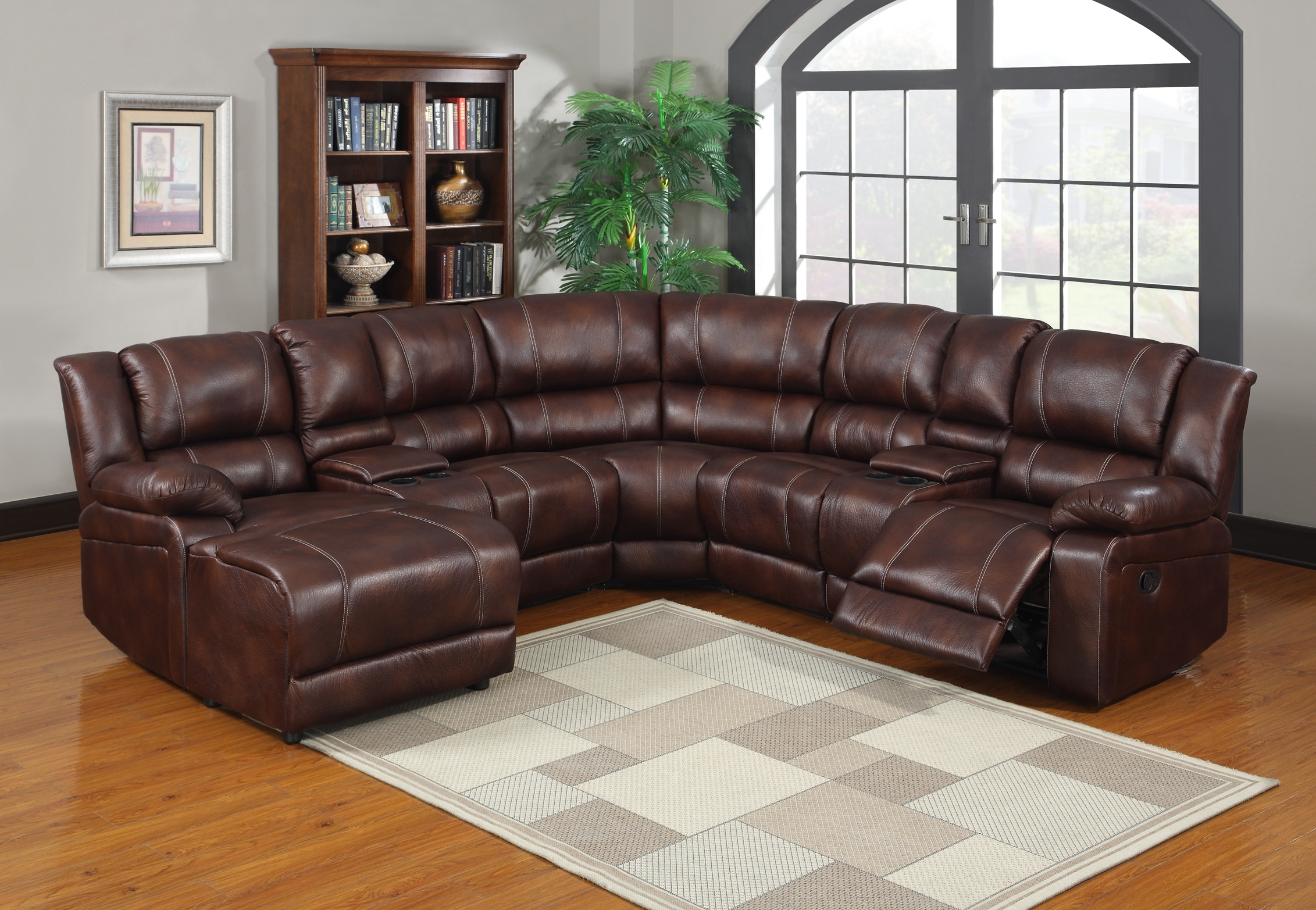 Sectional Sofas With Cup Holders Pertaining To Trendy Contemporary Style Sectional Sofas With Recliners And Cup Holders (View 7 of 15)