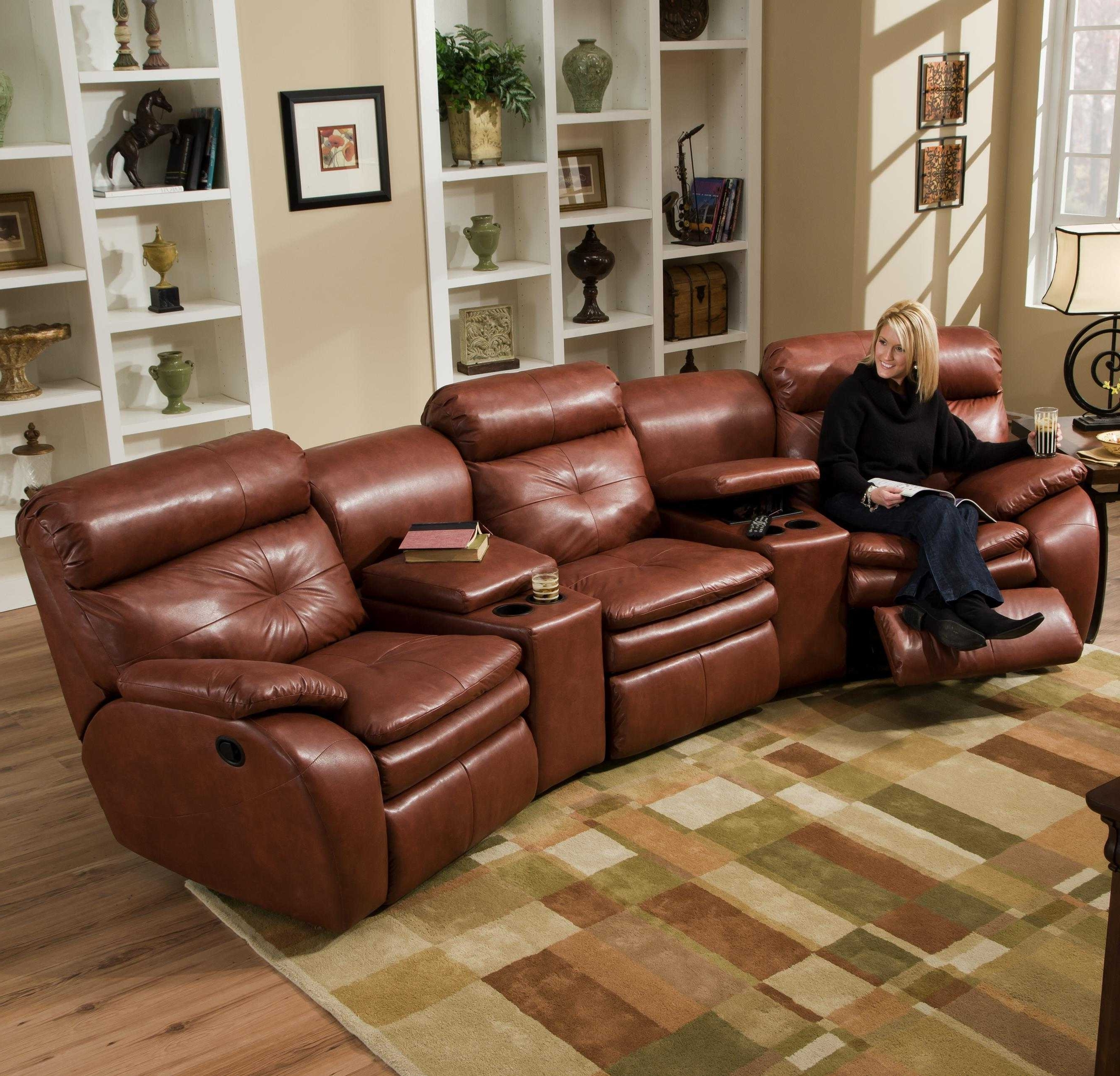 Sectional Sofas With Cup Holders Within 2018 Sectional Sofas With Recliners And Cup Holders Sofa Furniture (View 11 of 15)